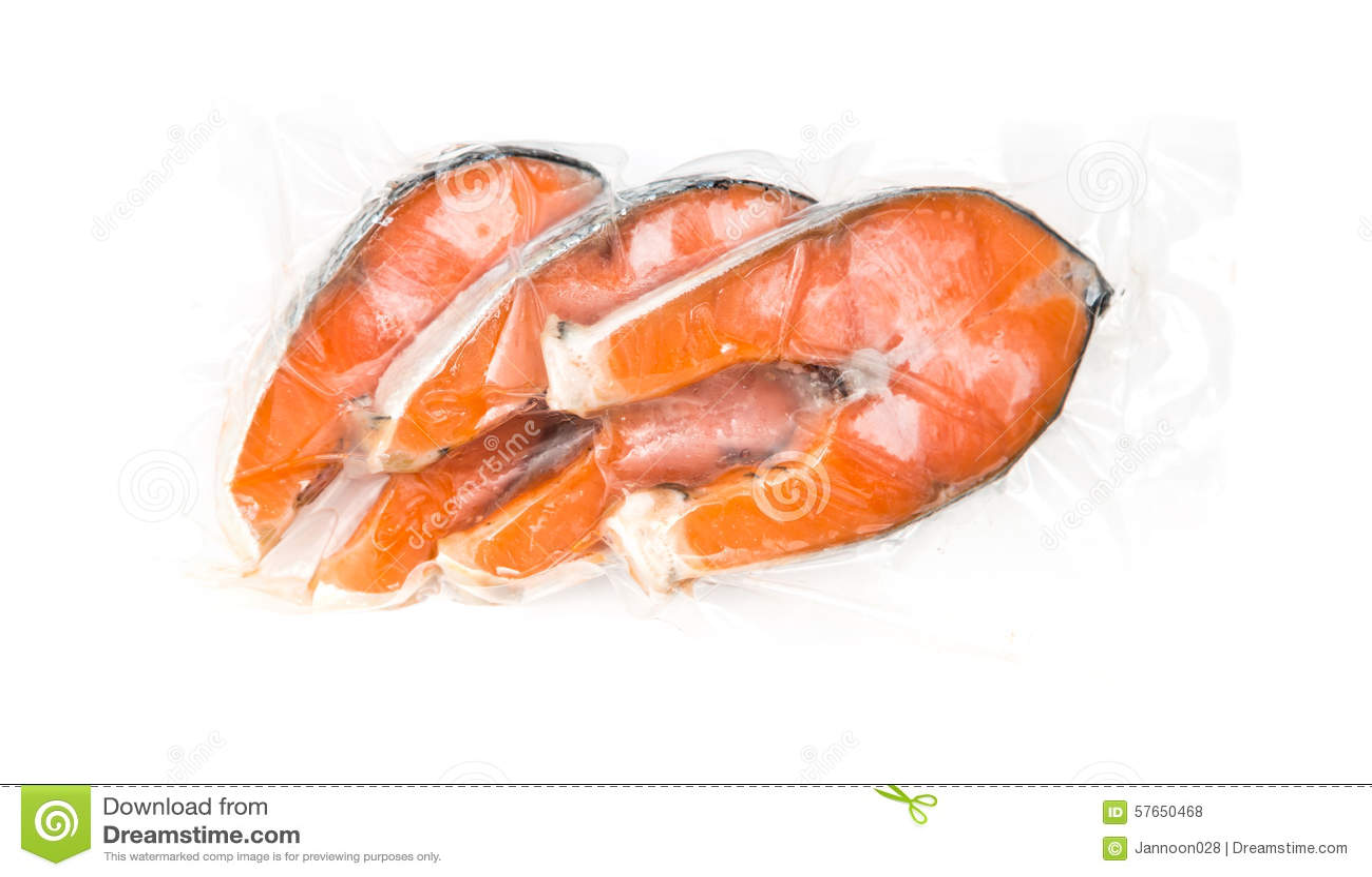 Filetes de color salmón congelados