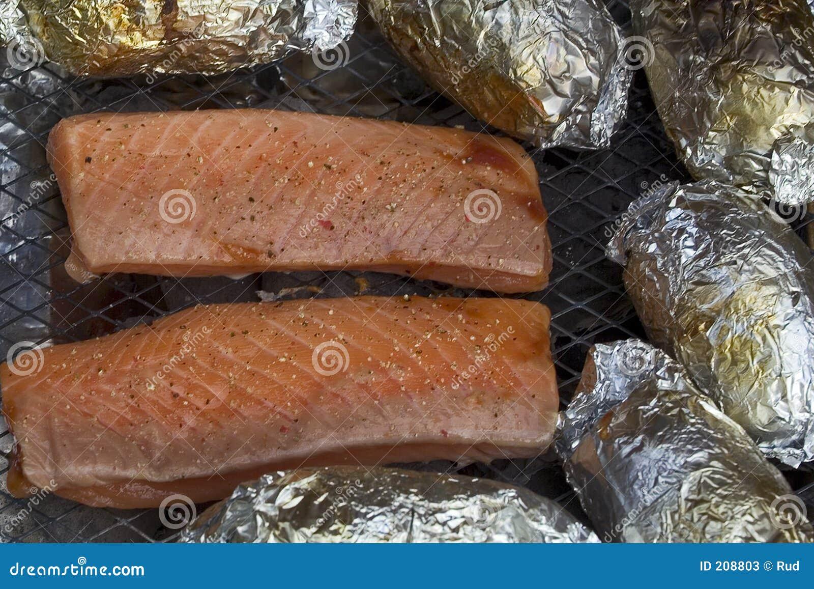 Filety z łososia grilla