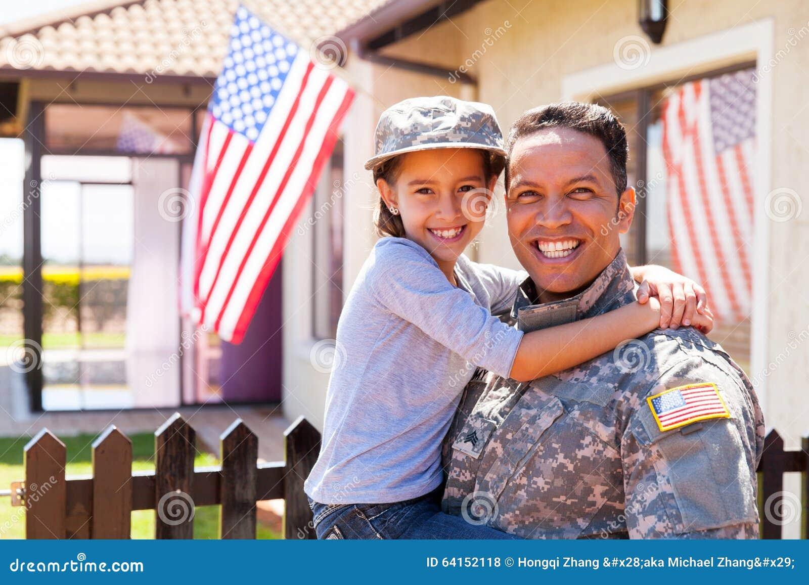 Filha do soldado do exército dos EUA