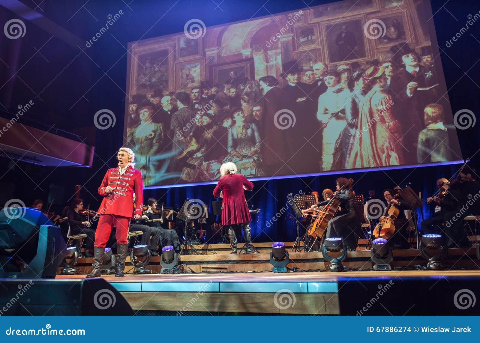以Filharmonia Futura和M为特色的景象 Walewska -歌剧是生活,