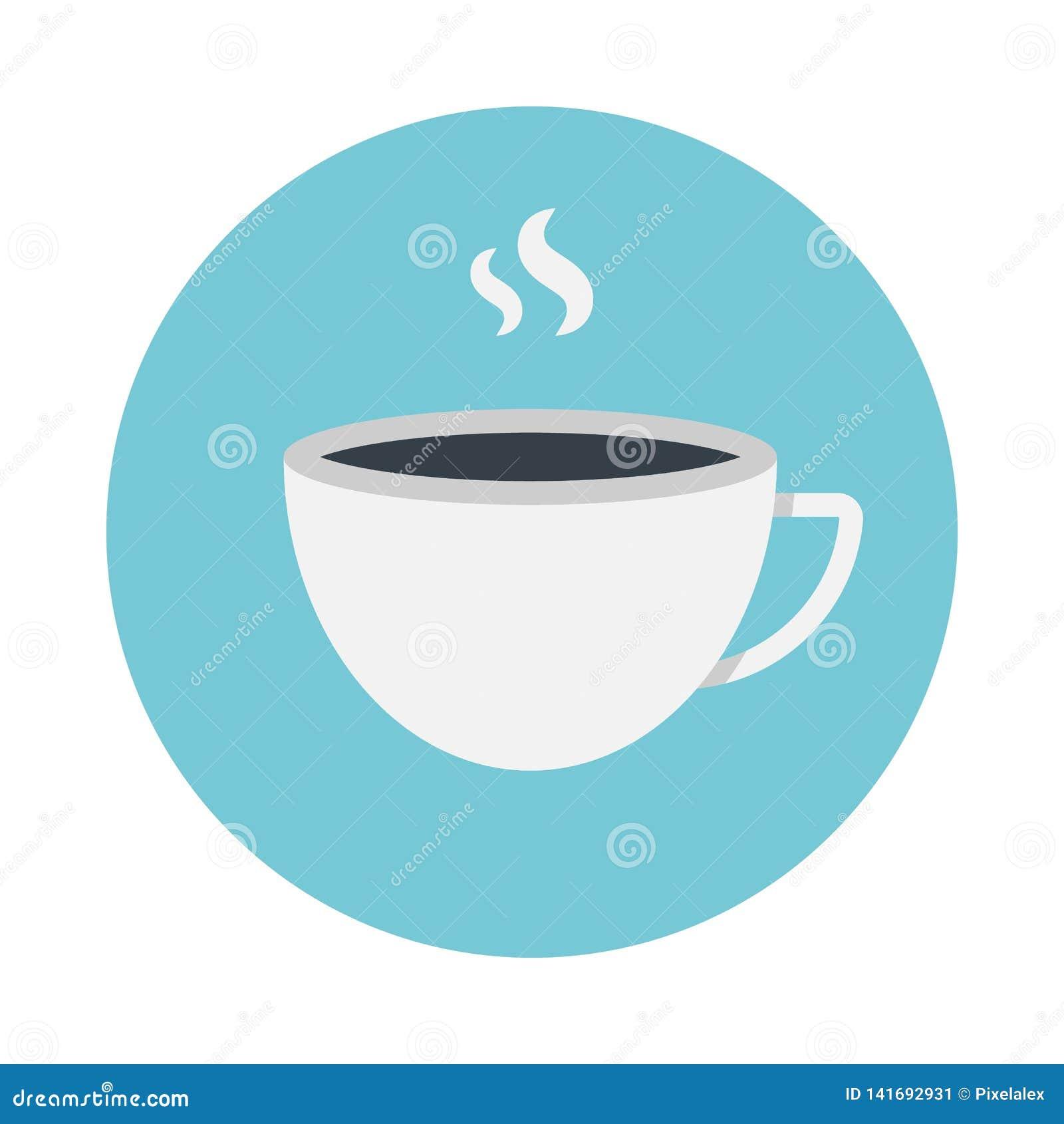Filiżanki kawy mieszkania ikona