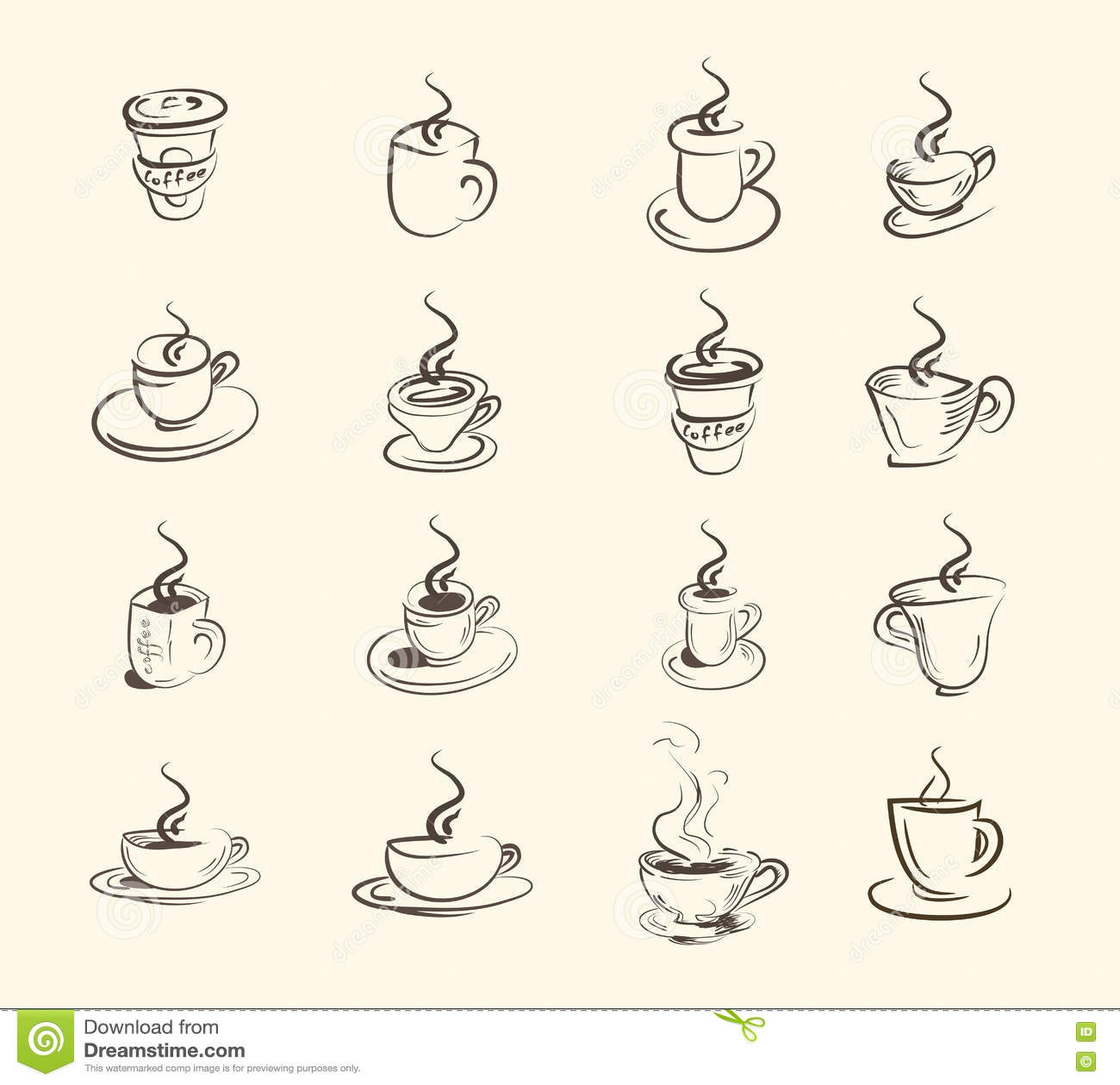 Filiżanka gorący napój, kawa, herbata, etc, duży set