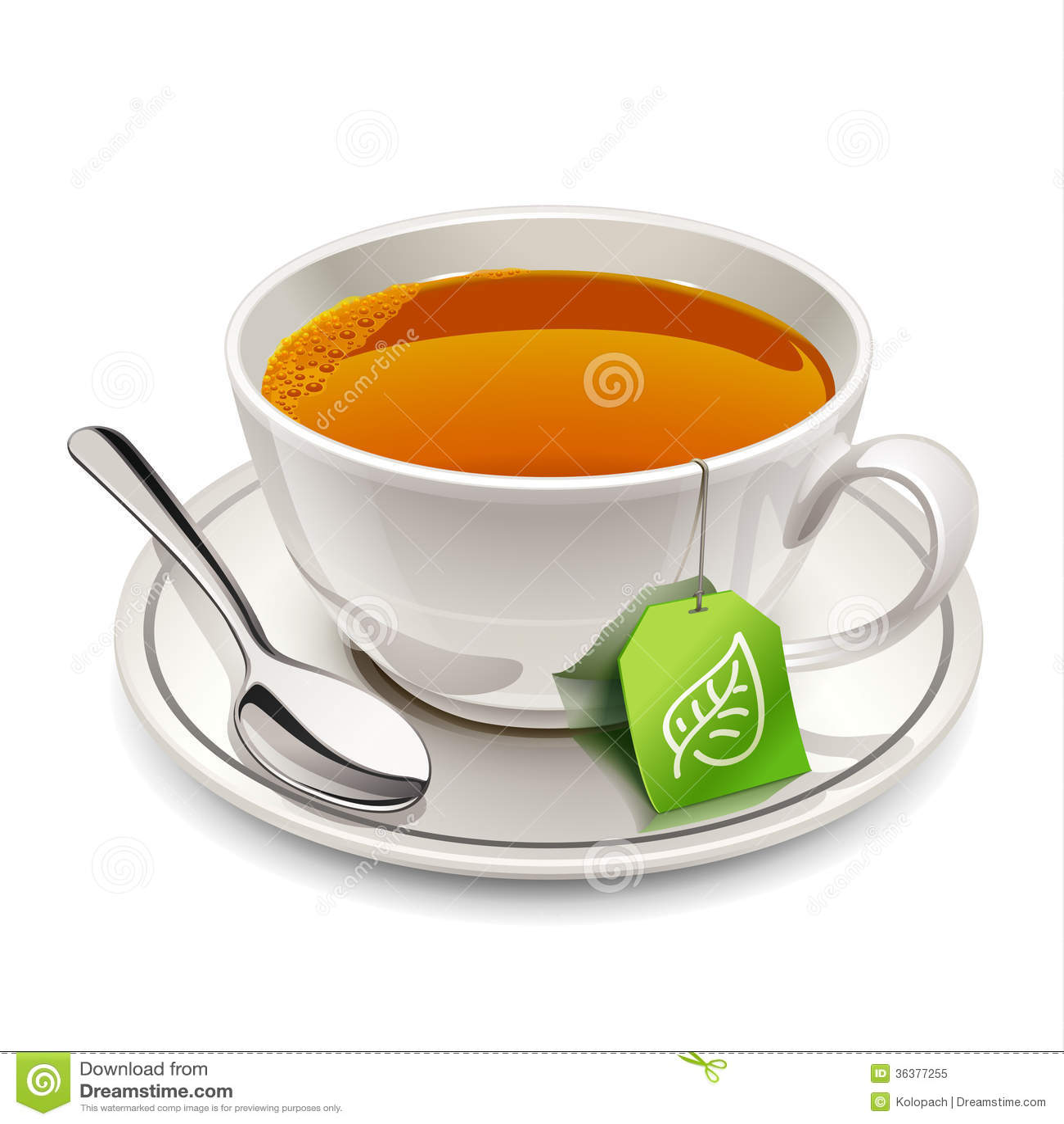 Filiżanka herbata z herbacianą torbą