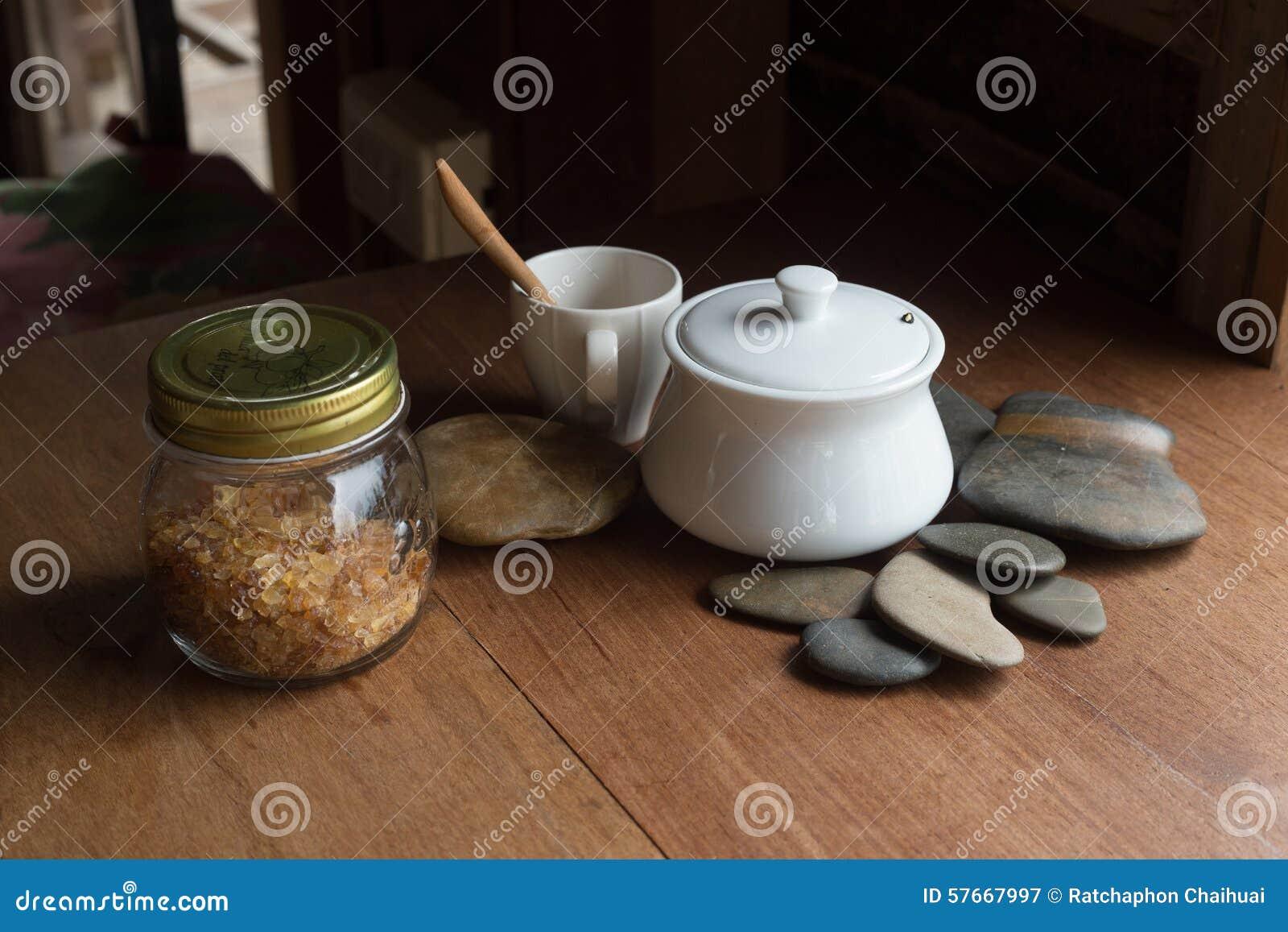Filiżanka Kawowy czas na drewno stole