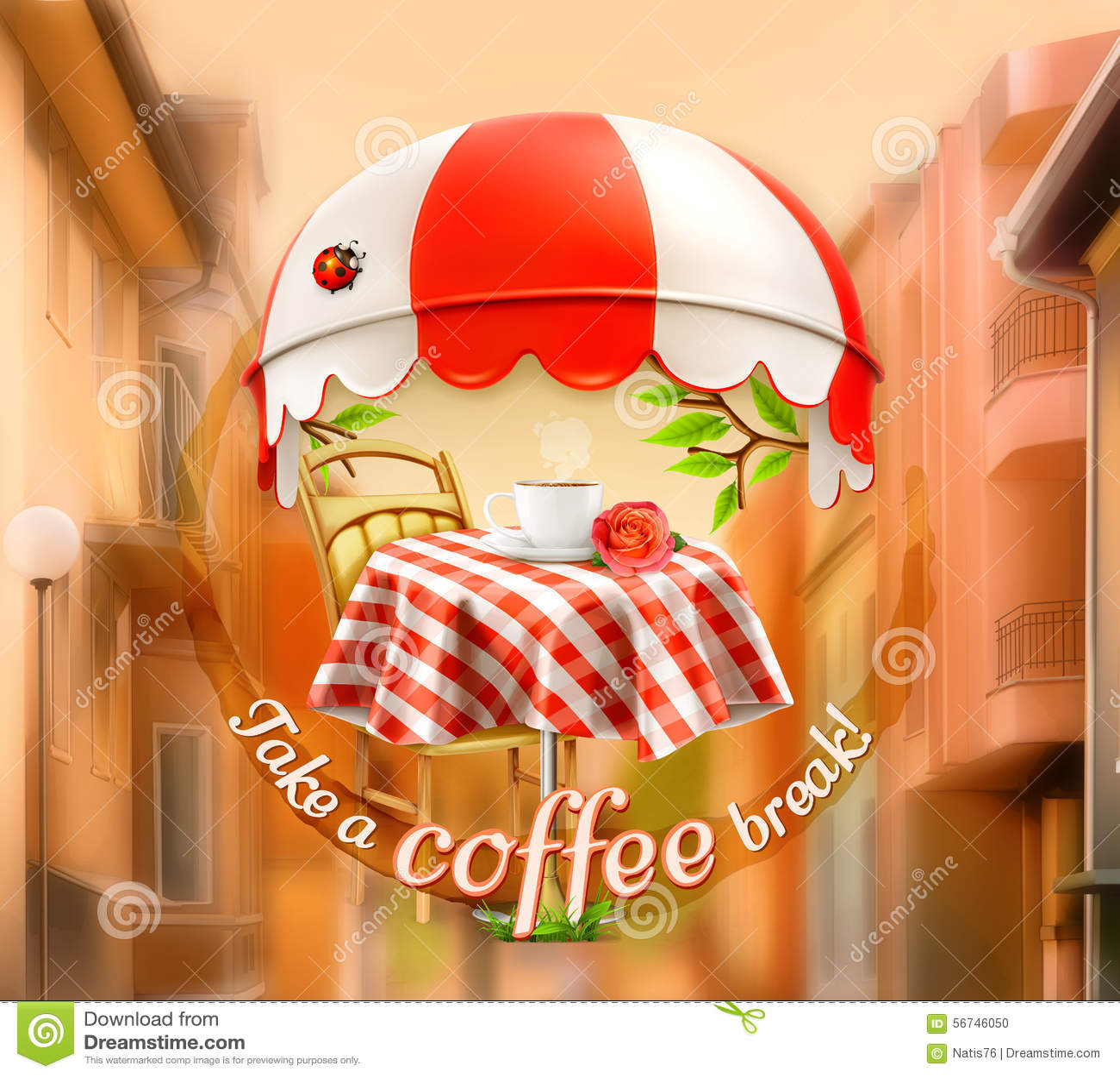 Filiżanka kawy z wzrastał na stole w kawiarni