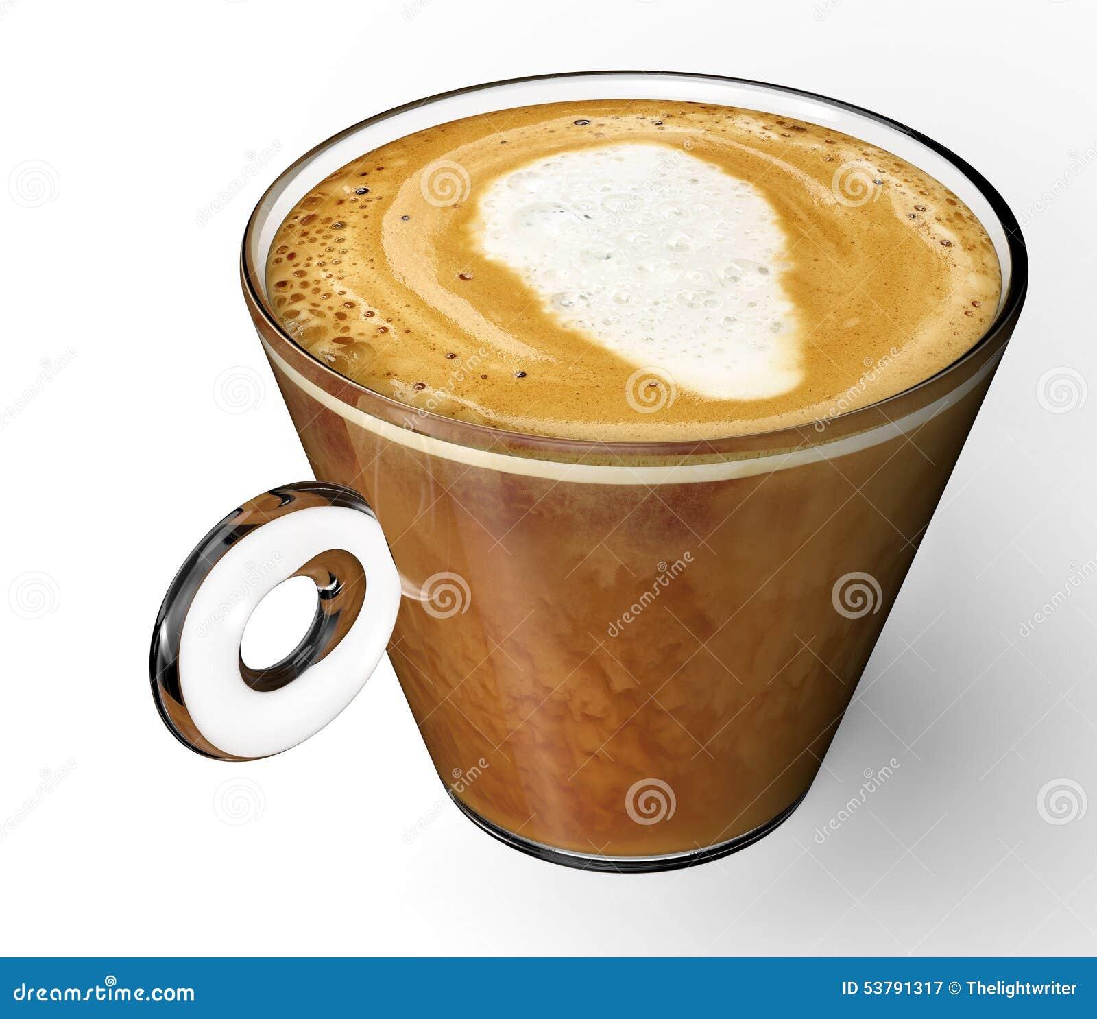 Filiżanka z coffe odizolowywającym na bielu