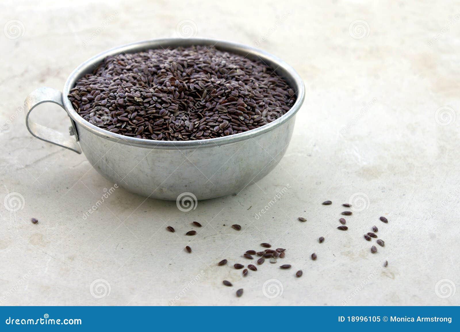 Filiżanki flaxseed