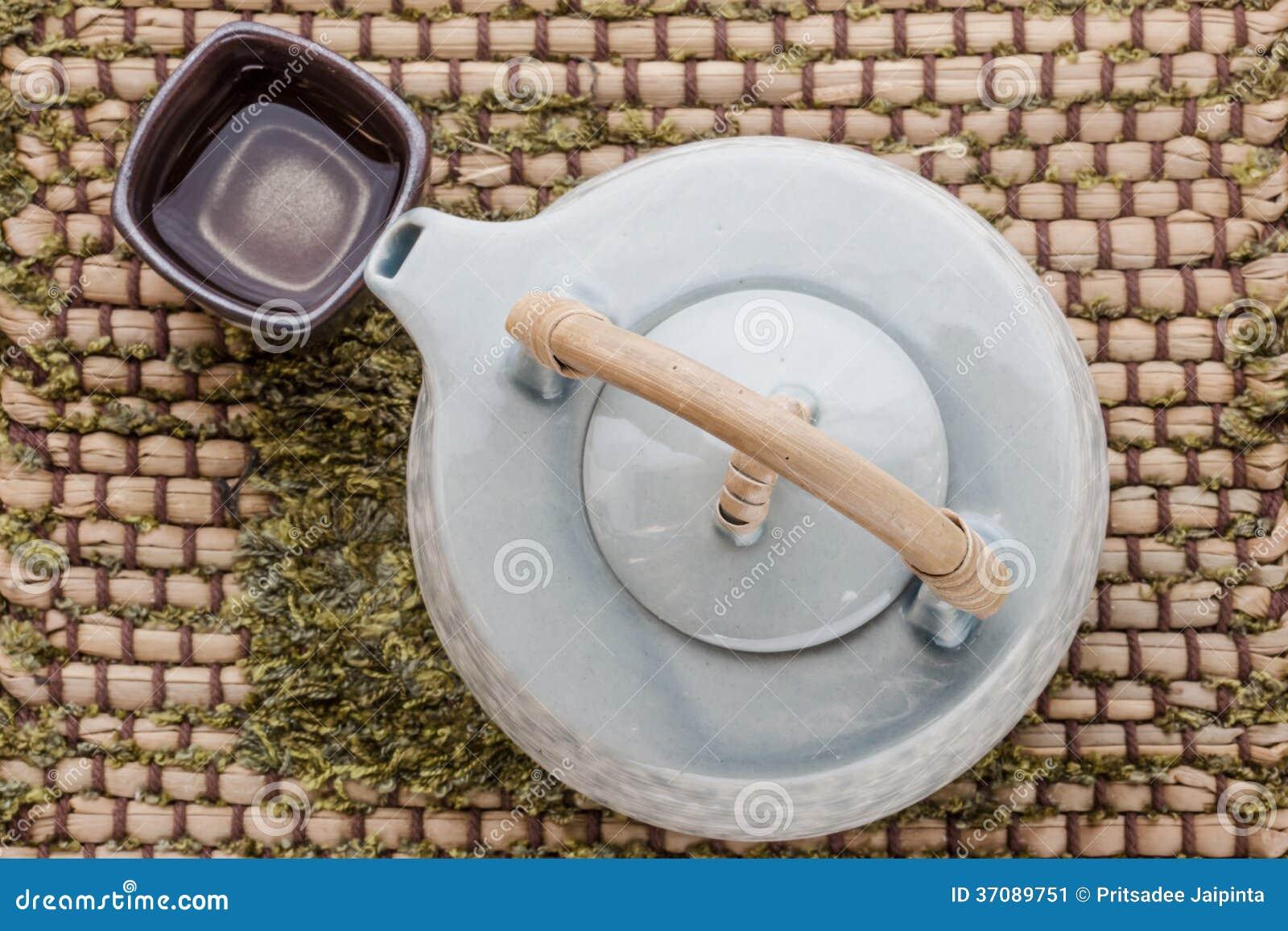 Download Filiżanka Herbata I Teapot Na Drewnianym Obraz Stock - Obraz złożonej z jedzenie, pusty: 37089751
