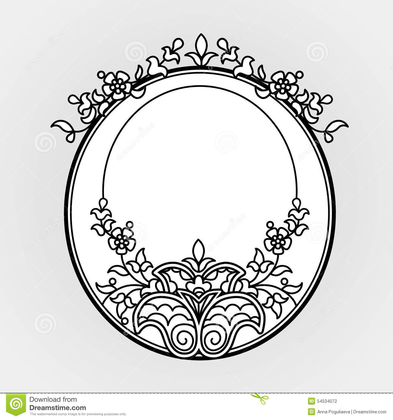 Oval Filigree Clip Art - Clipart Library •