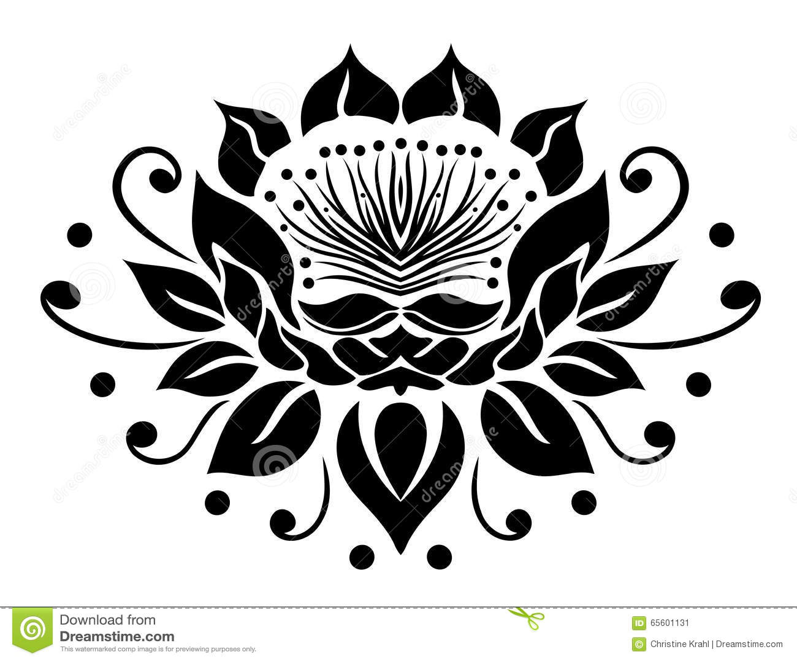 Filigree lotus flower stock vector illustration of health 65601131 filigree lotus flower mightylinksfo