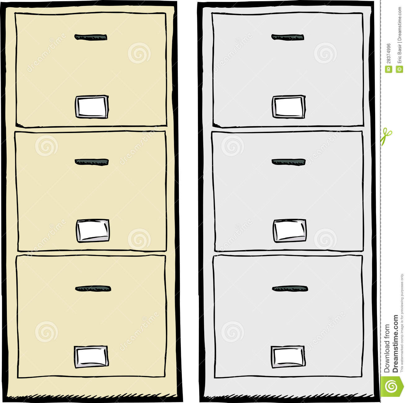 Office Designs 18 Deep 3Drawer Utility File Cabinet
