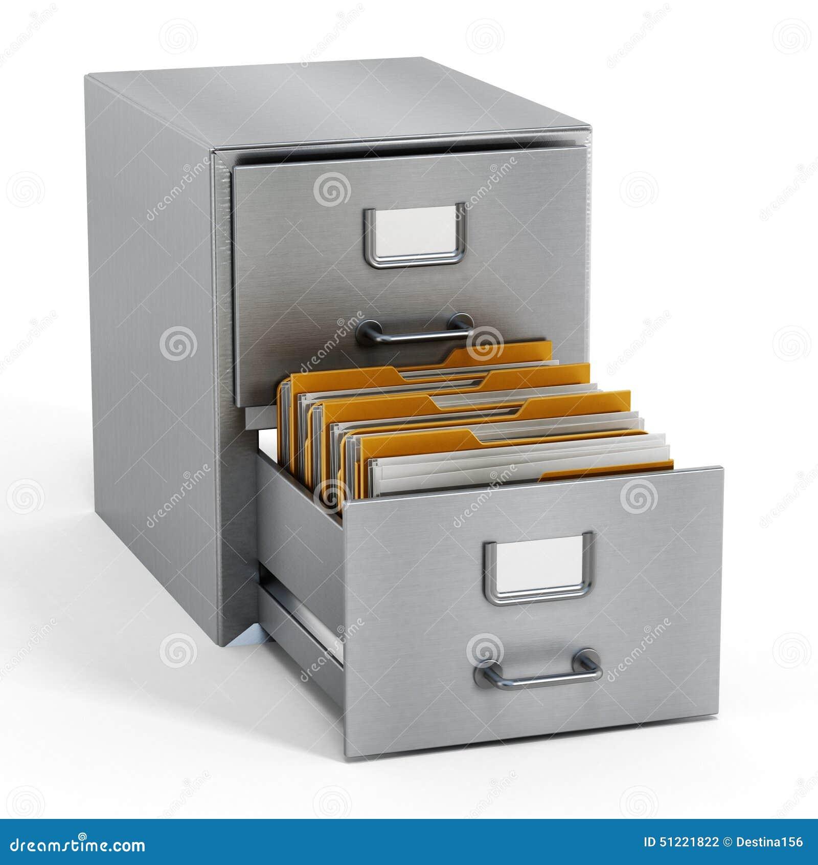 Filing Cabinet Stock Photo Image 51221822