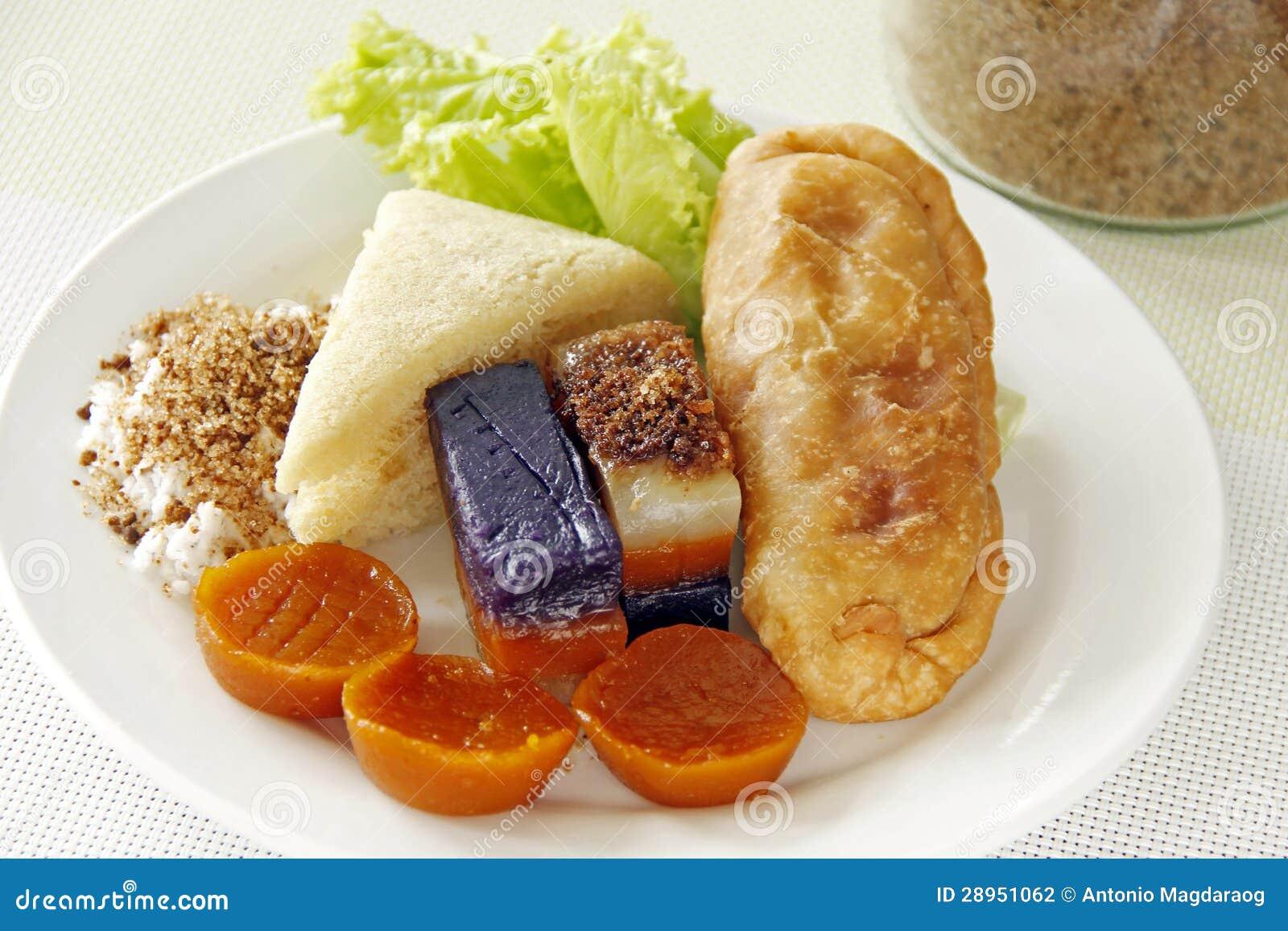 Filipińscy słodcy jedzenia
