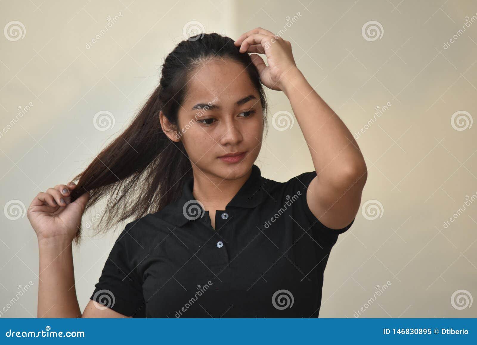Filipina Girl With Long Hair