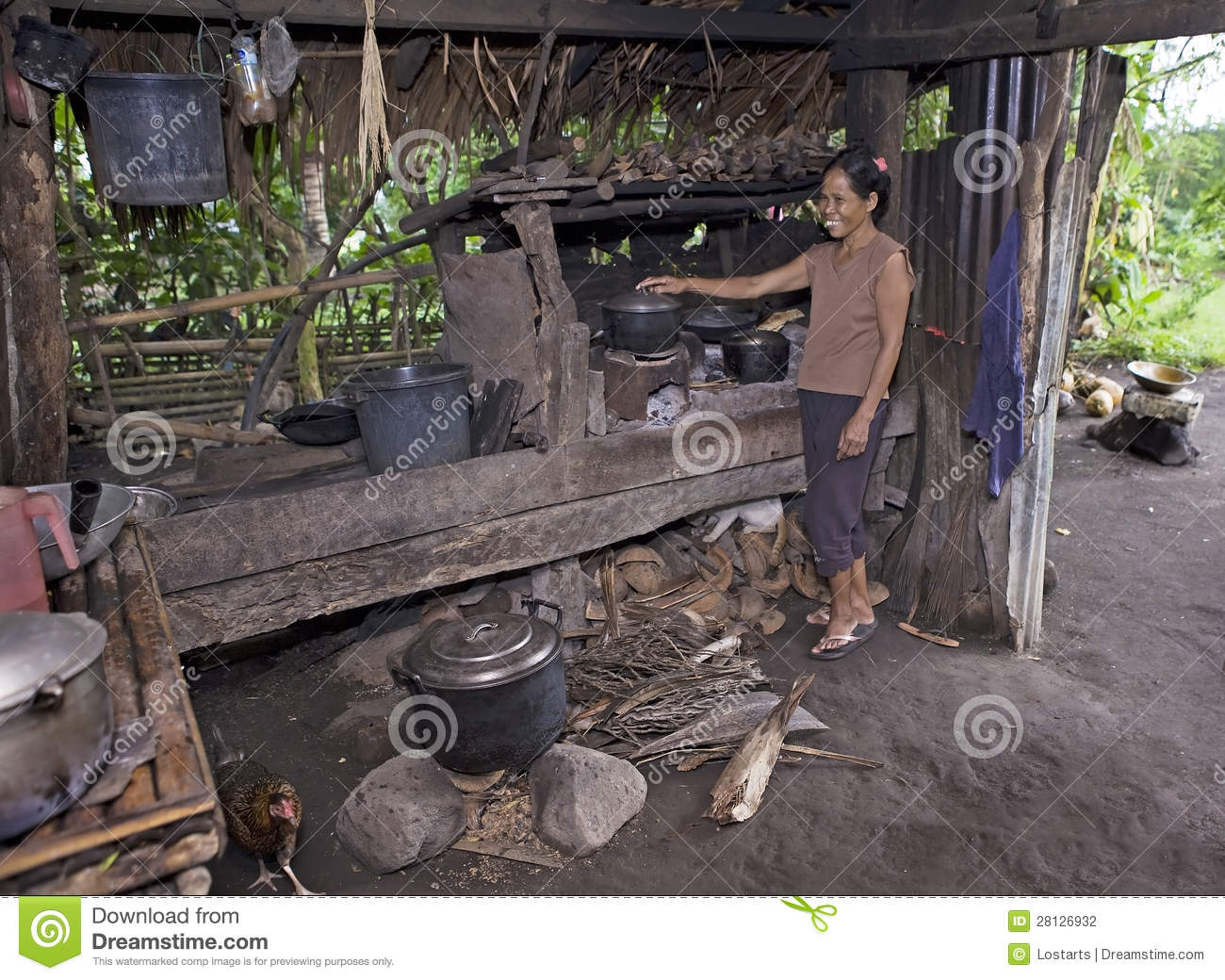 Stock Photo Philippines Woman Cooking Food Image