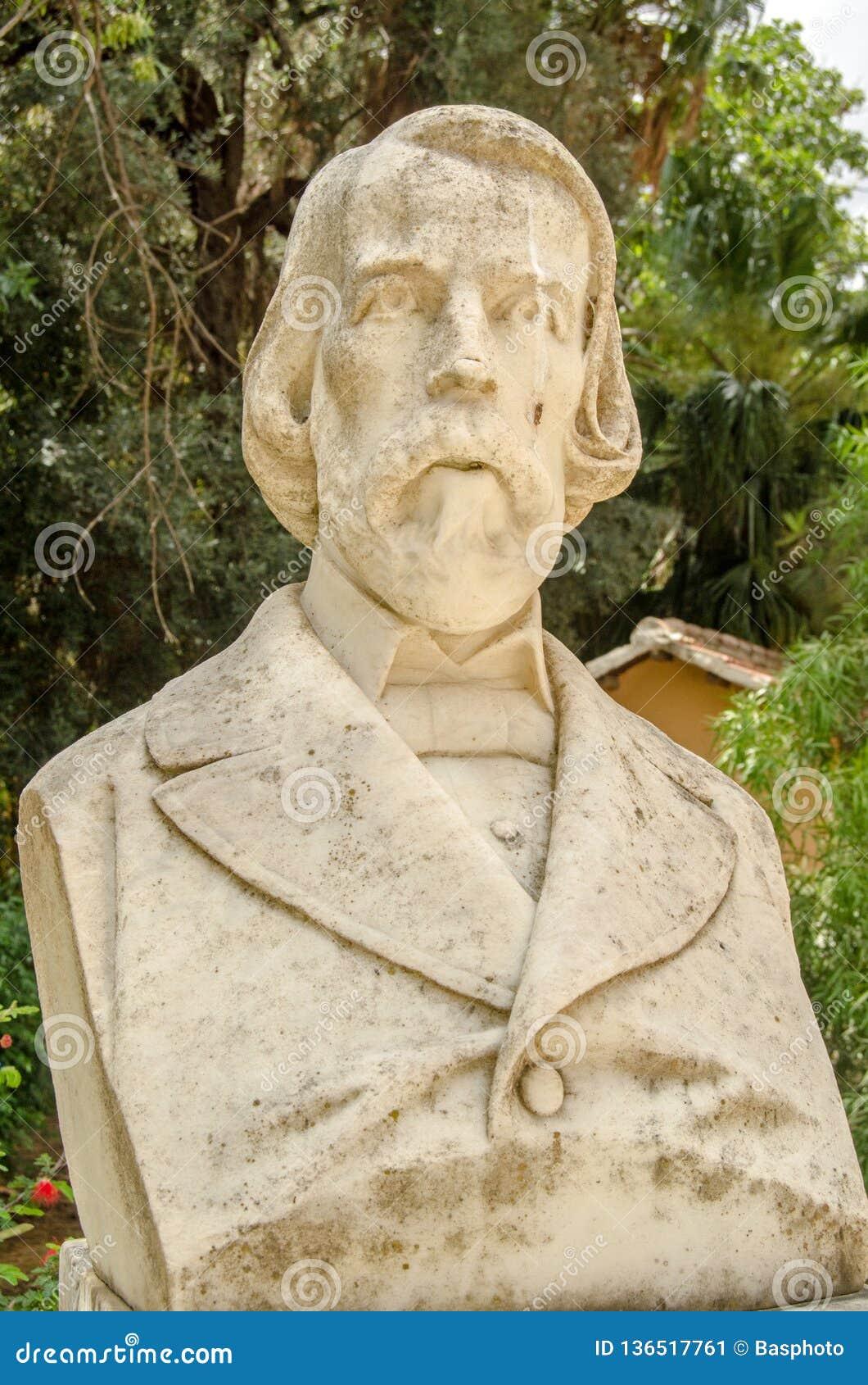 Filippo Parlatore byst, Palermo