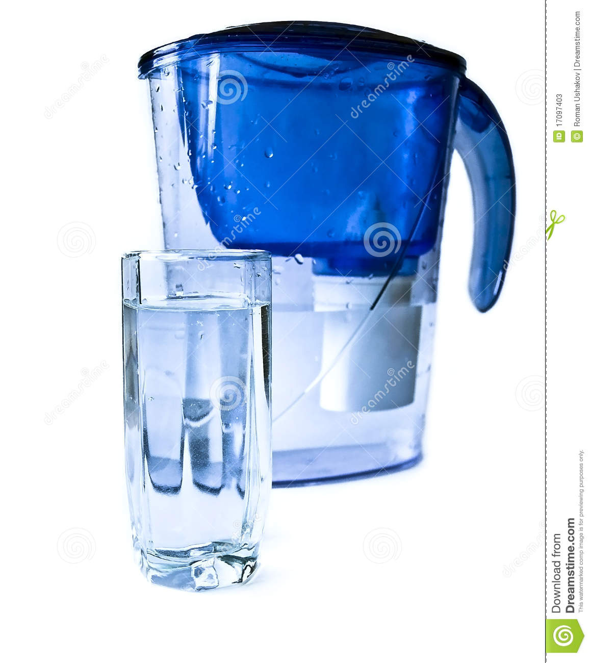 Filirt pitcher and glass of water stock photos image 17097403 - Glass filtered water pitcher ...