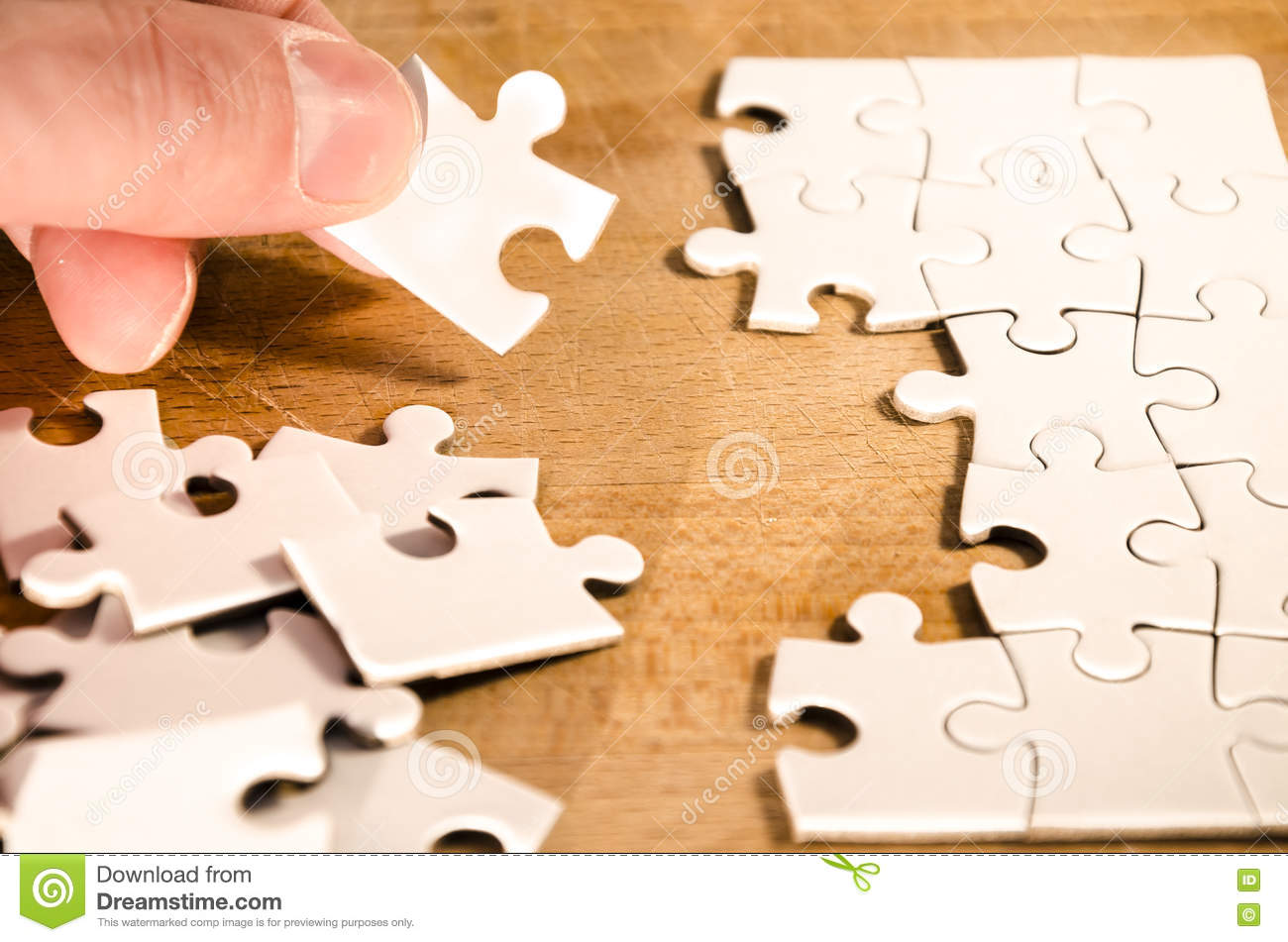 Fill The Gaps Stock Photo Image Of Piece Problem Board 73434232