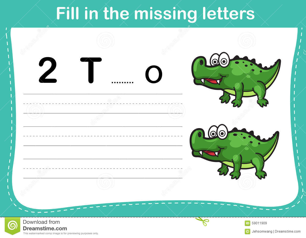 Fill In The Missing Letters Stock Vector Image 59011909. Fill In The Missing Letters  Identifying The Letters Of The