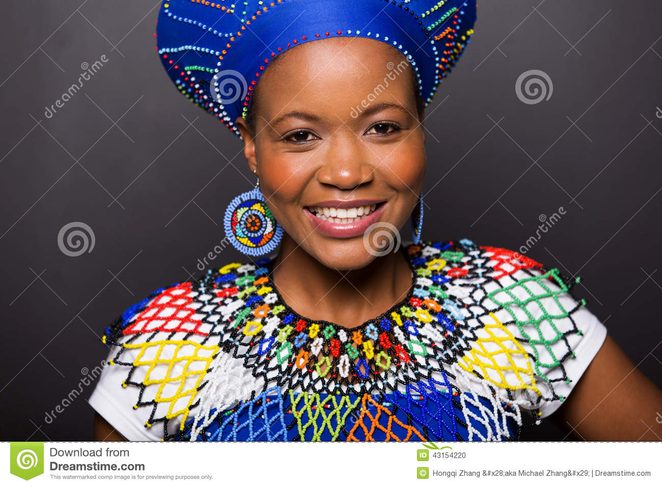 Fille africaine de zoulou Photo stock