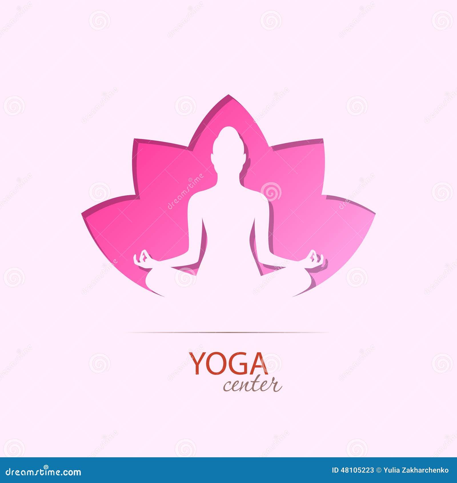 fille centrale de yoga dans le symbole de silhouette de. Black Bedroom Furniture Sets. Home Design Ideas