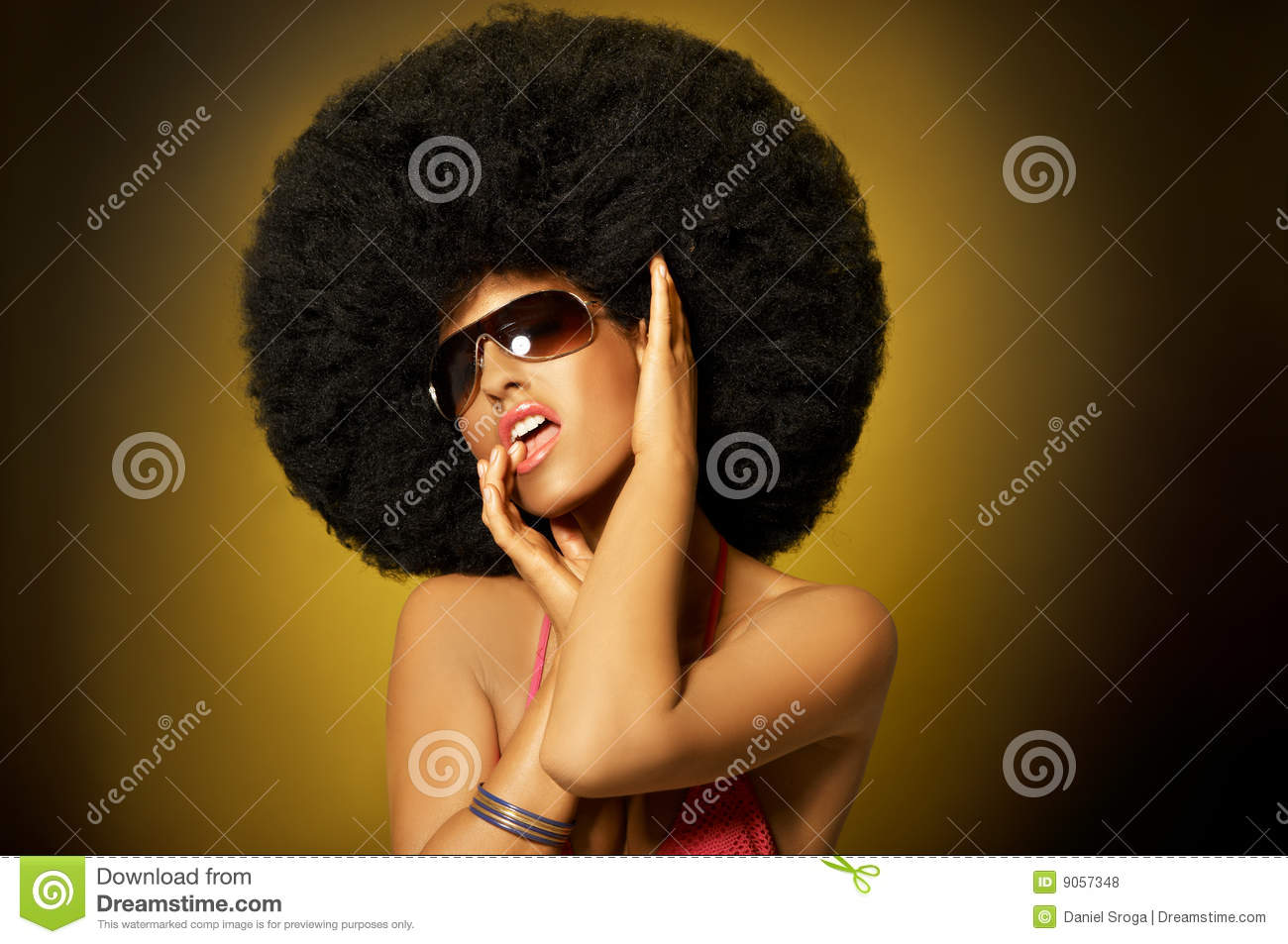 Fille d Afro