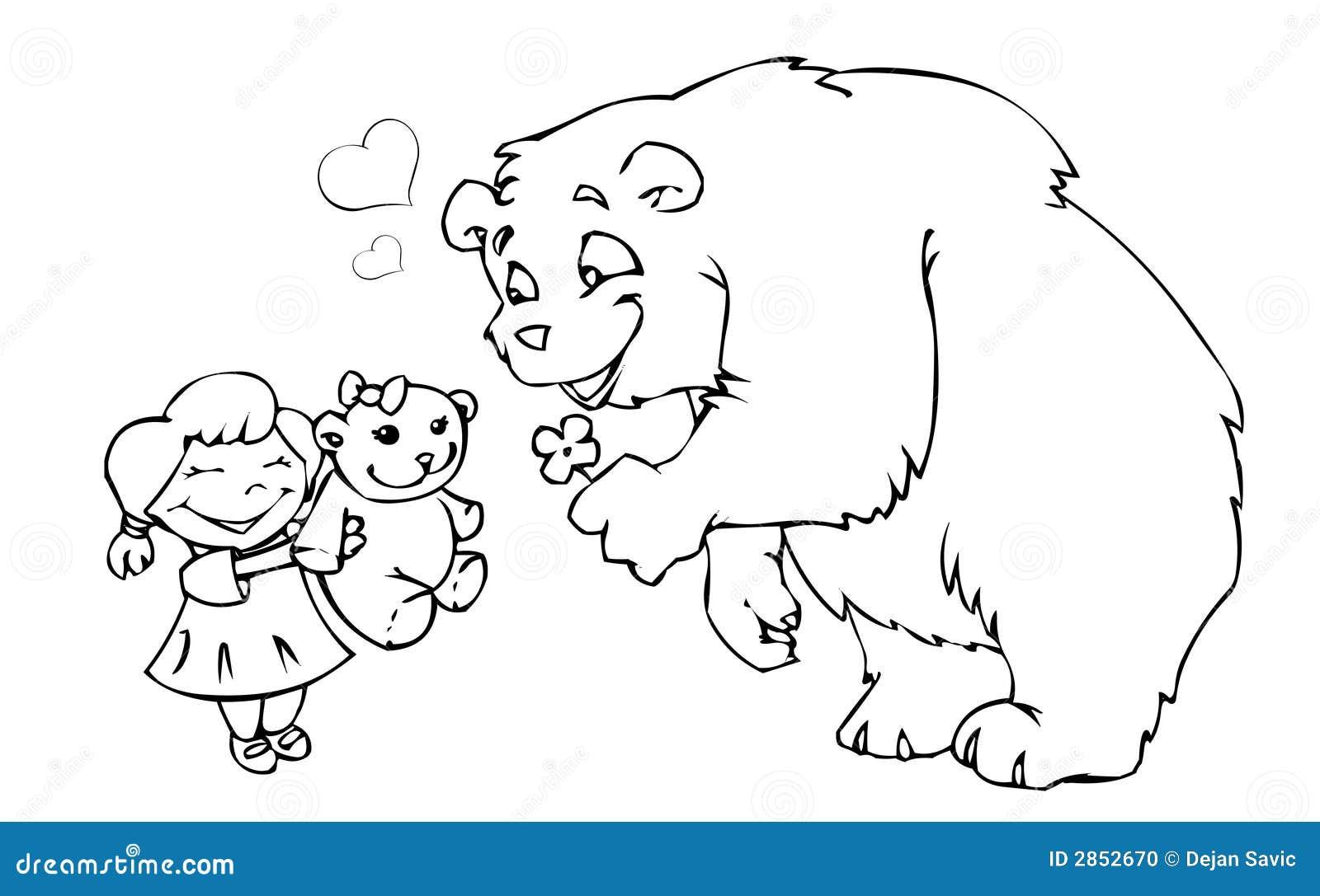 Fille d ours et ours de nounours