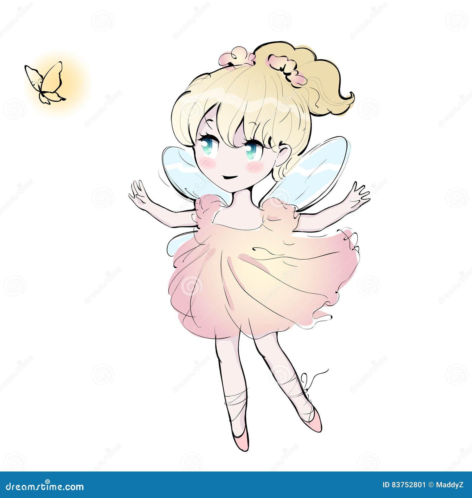 Fille De Danse Féerique Mignonne Petite Ballerine