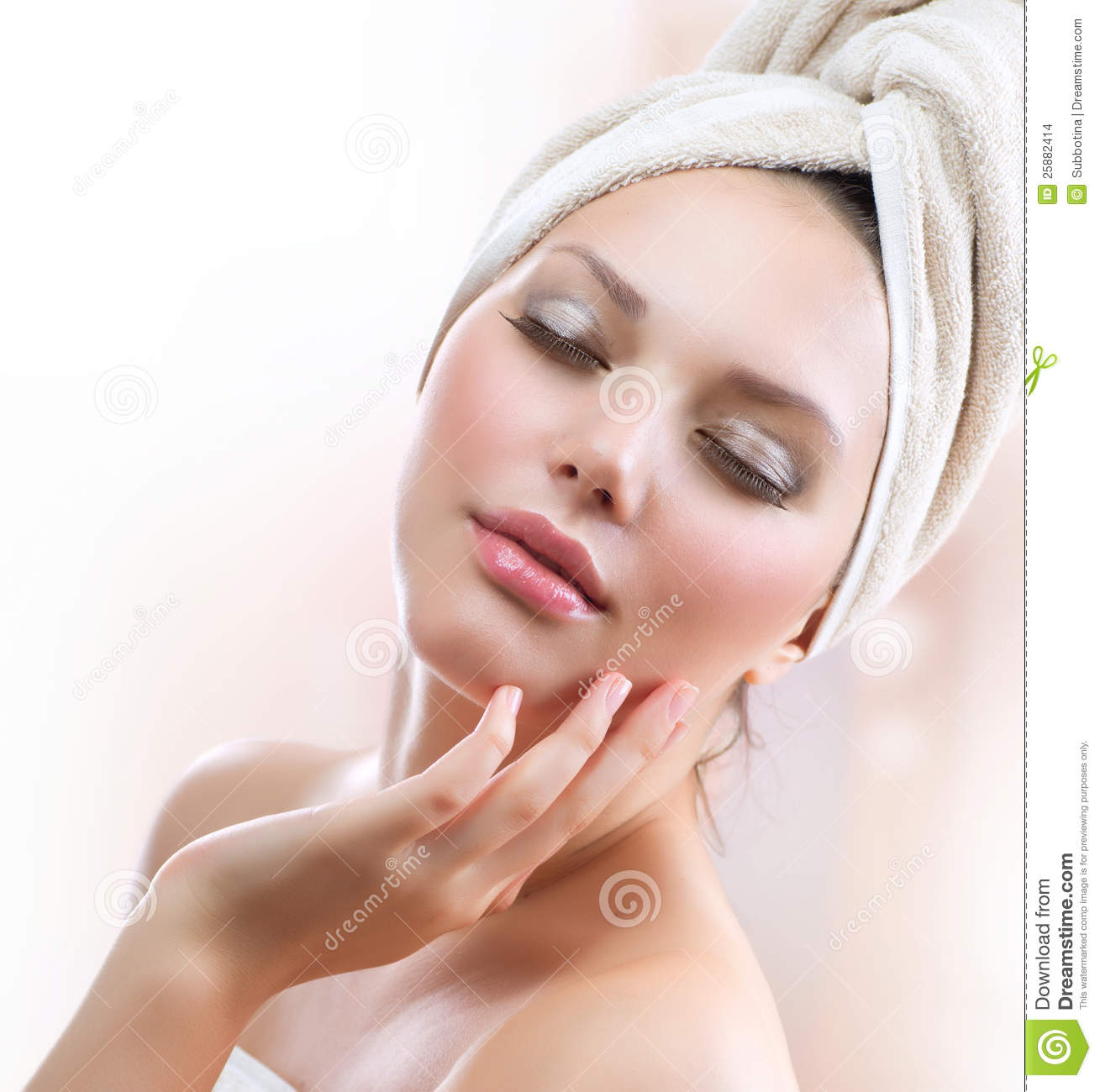 Fille de station thermale. Skincare