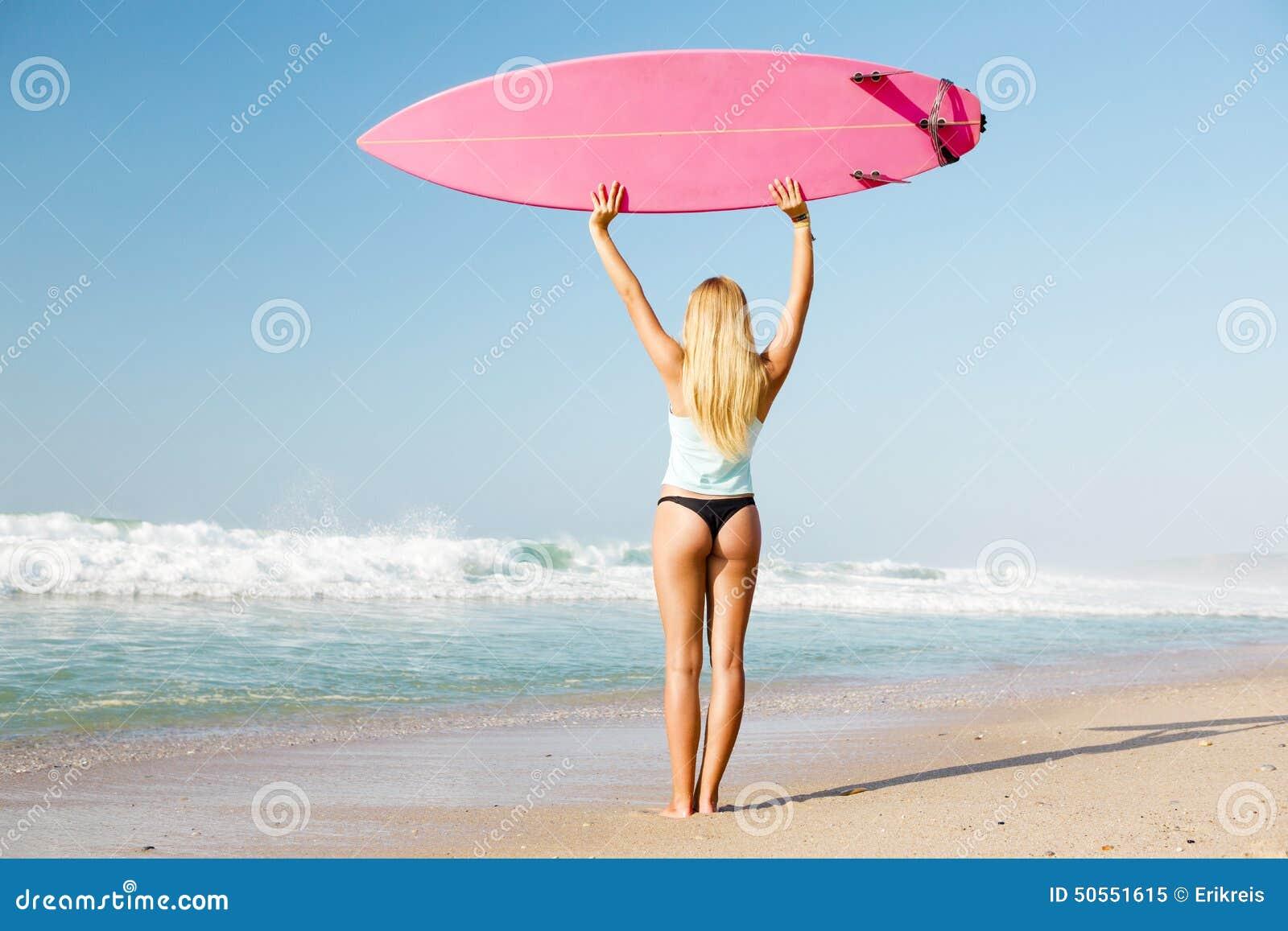 Fille de surfer de Blode
