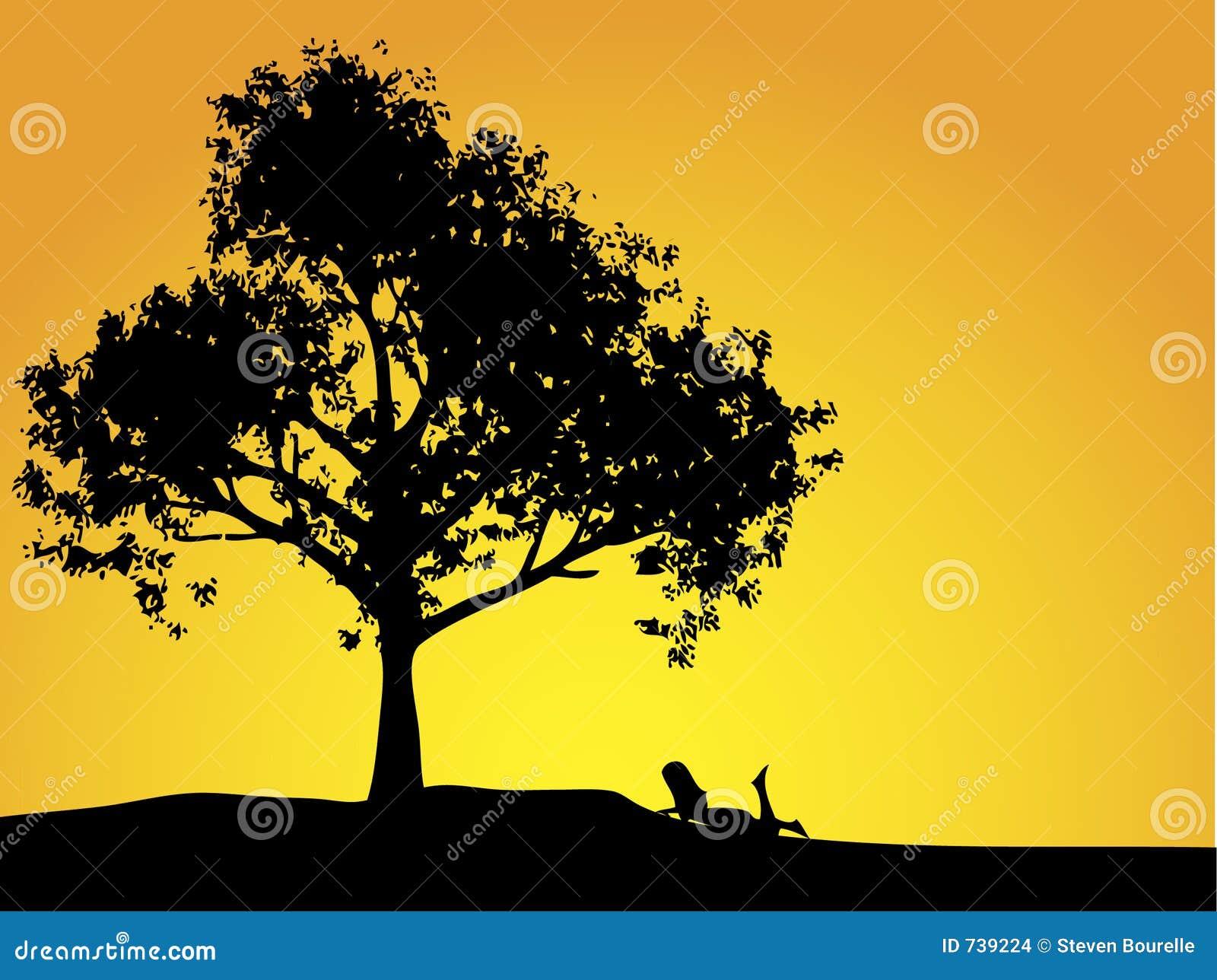 Fille et arbre
