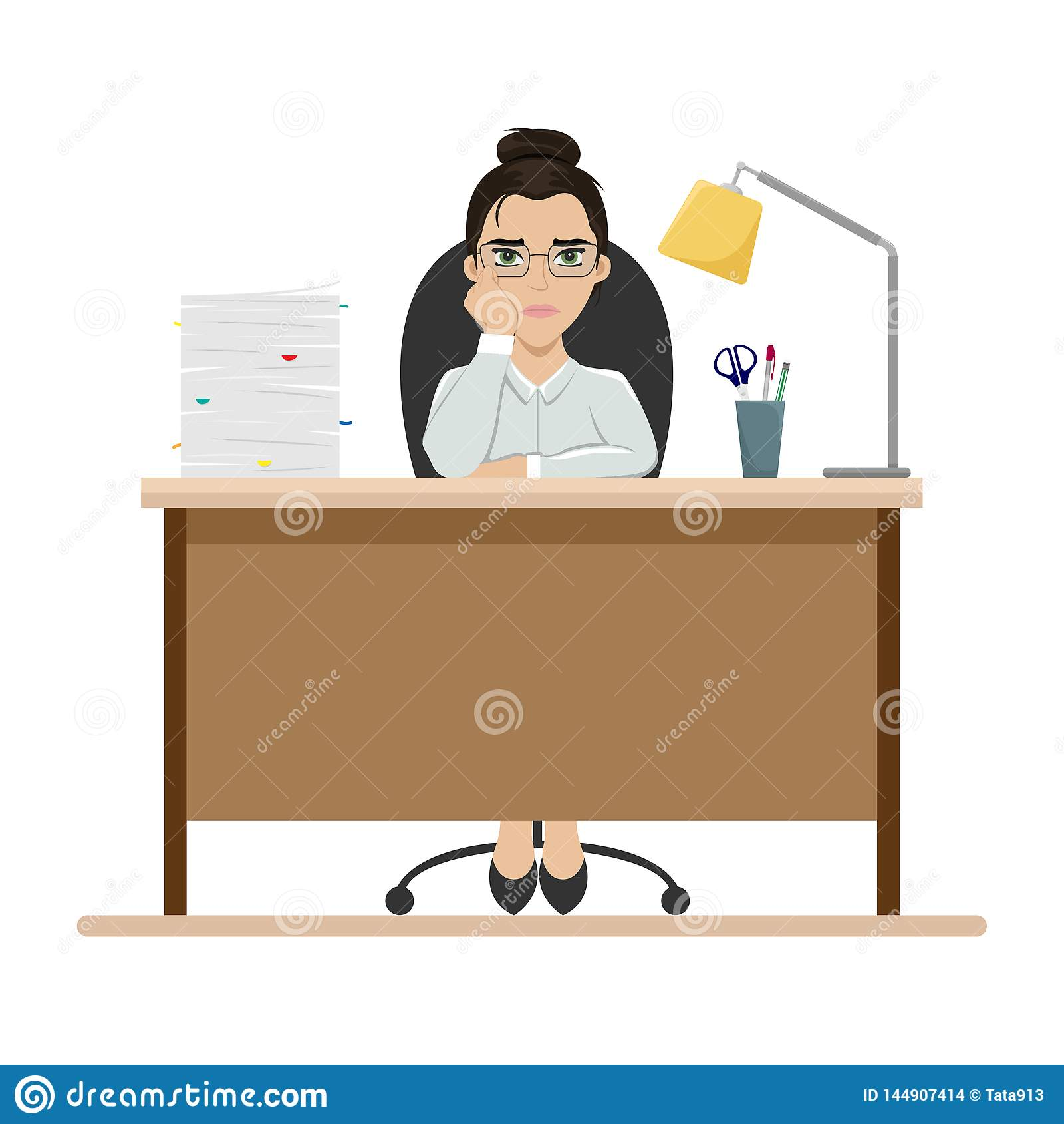 девушка с работы