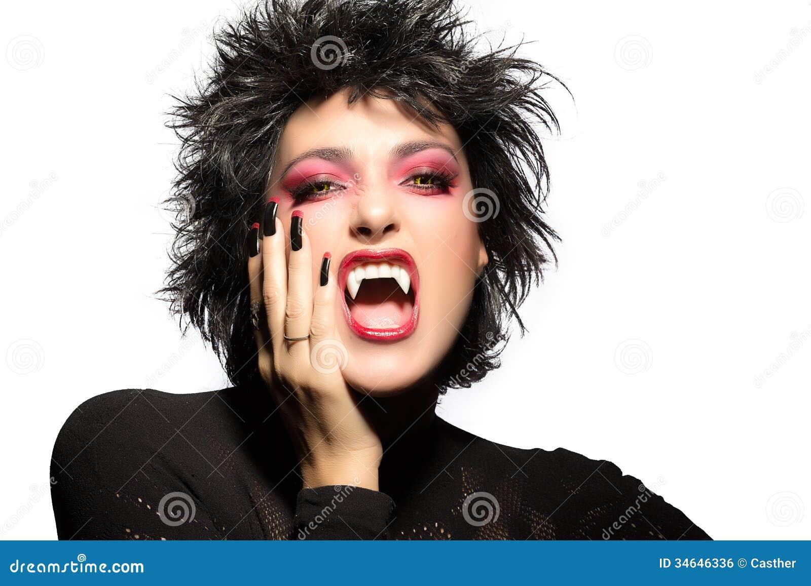 fille gothique de beaut maquillage de vampire image libre de droits image 34646336. Black Bedroom Furniture Sets. Home Design Ideas