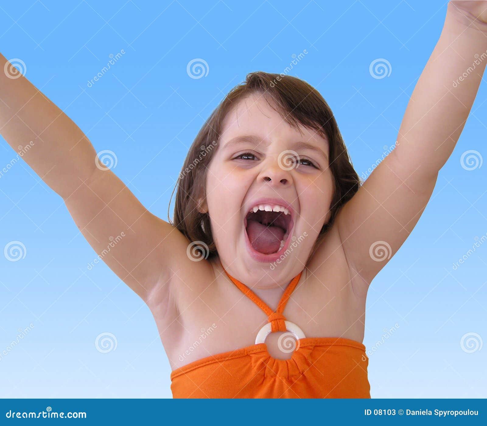 Download Fille heureuse image stock. Image du rire, closeup, enfants - 8103