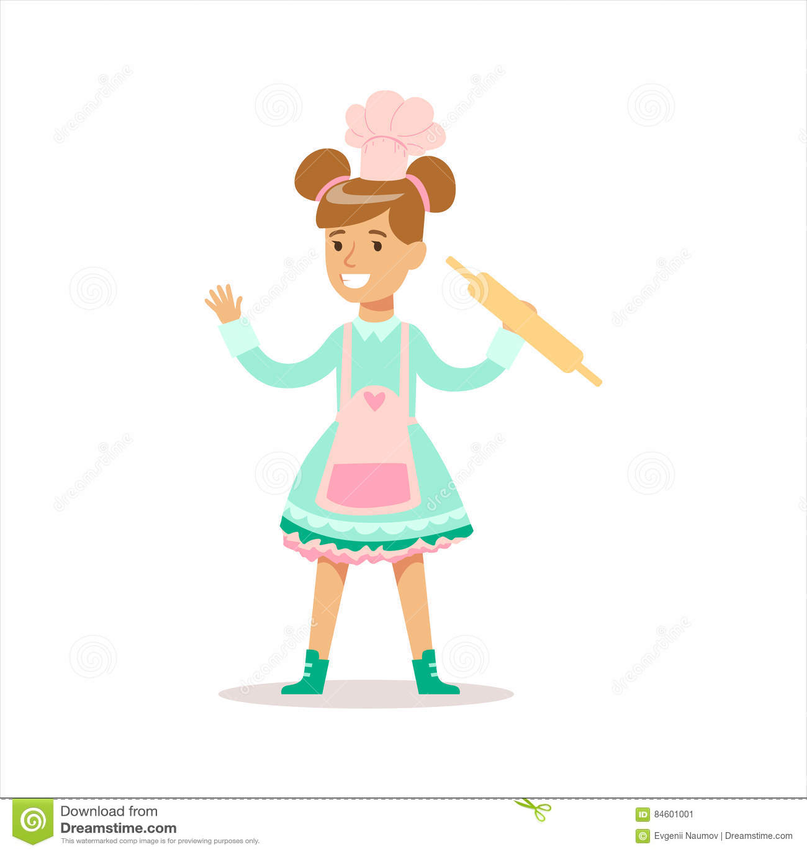 fille heureuse dans le personnage de dessin anim de sourire de v tements girly classiques de. Black Bedroom Furniture Sets. Home Design Ideas