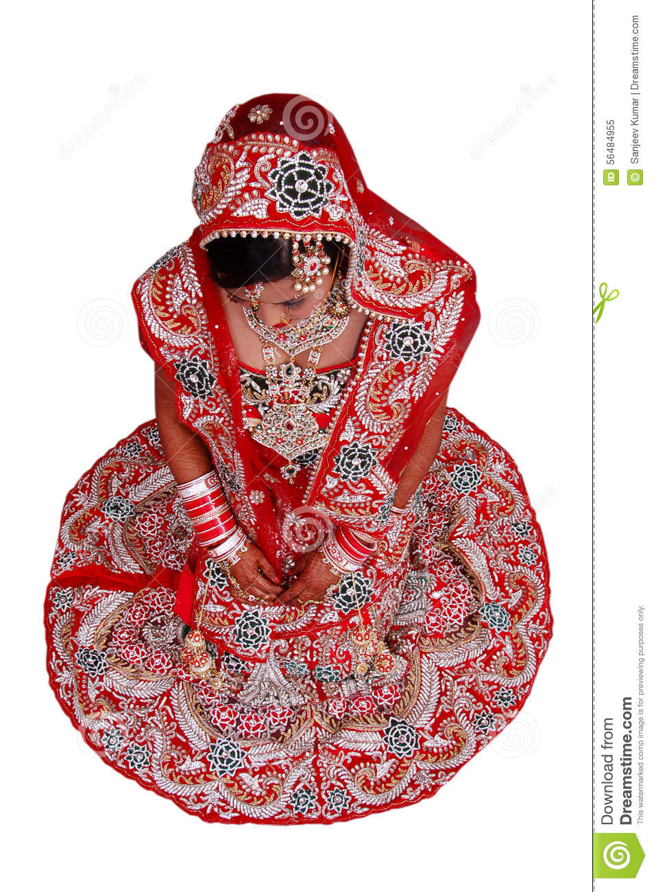 Fille nuptiale indienne