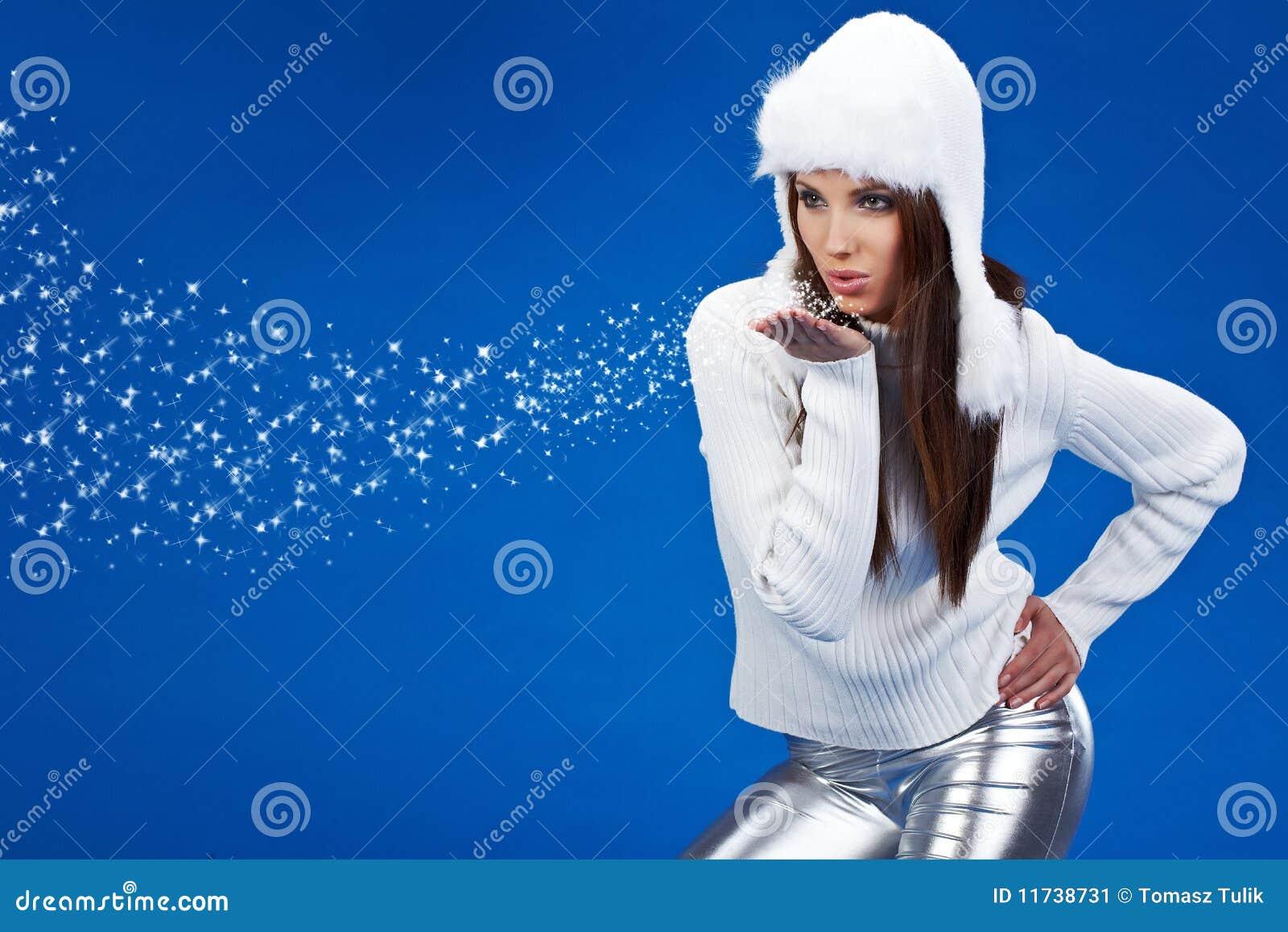 Fille sexy de l hiver