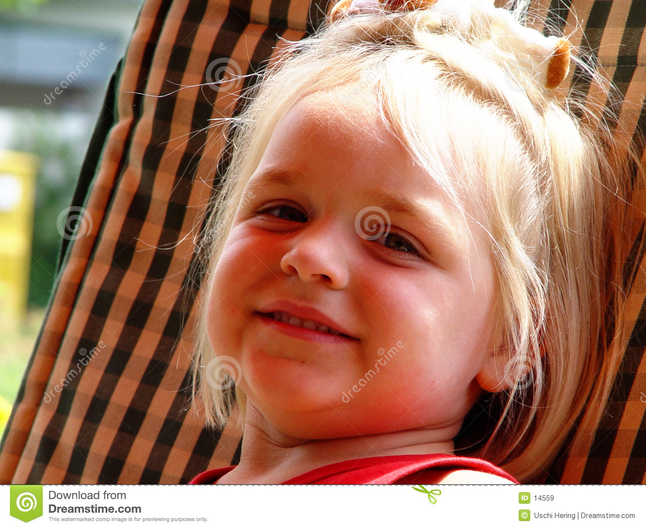 Fille, souriant