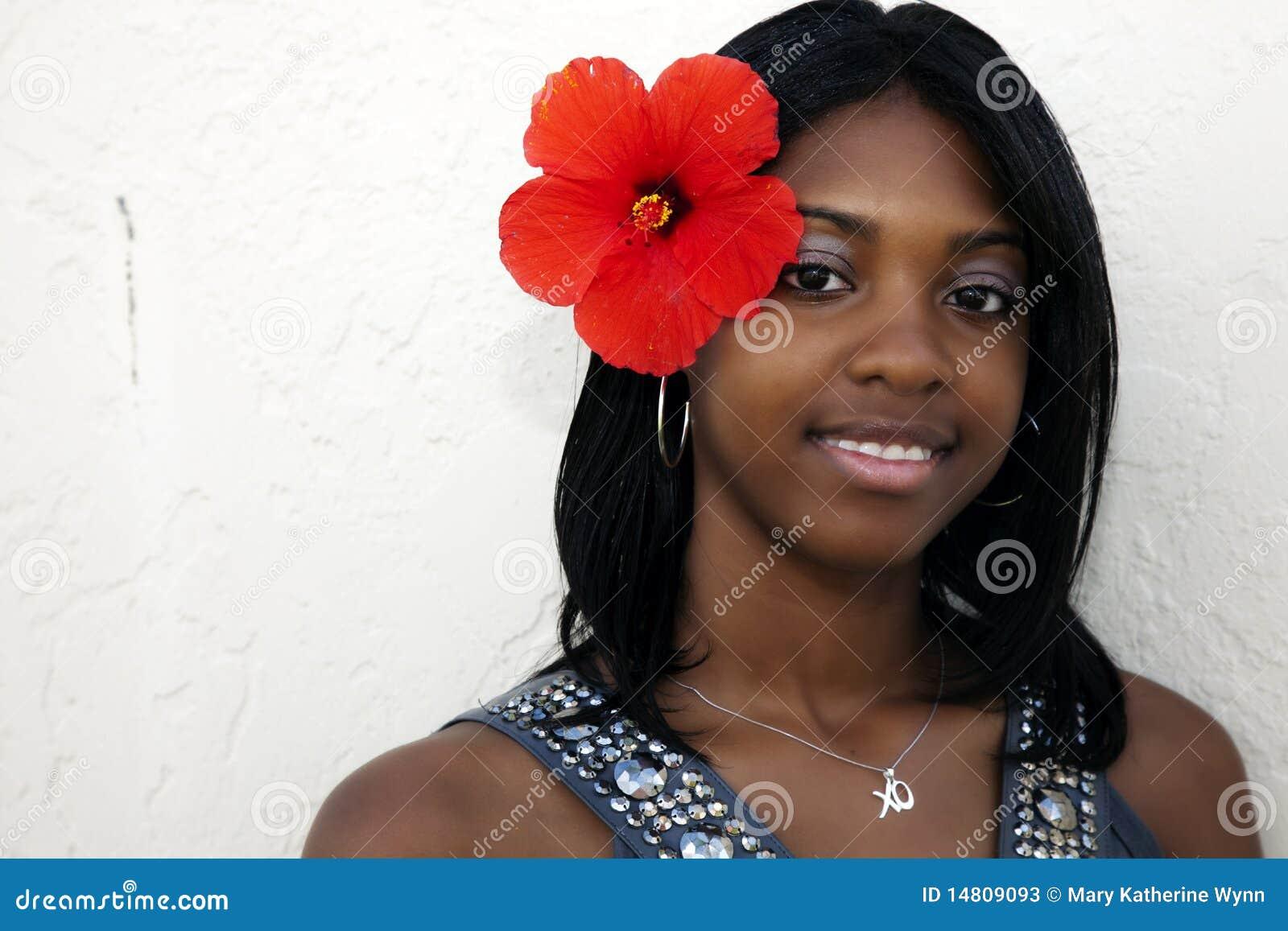 Fille tropicale d île