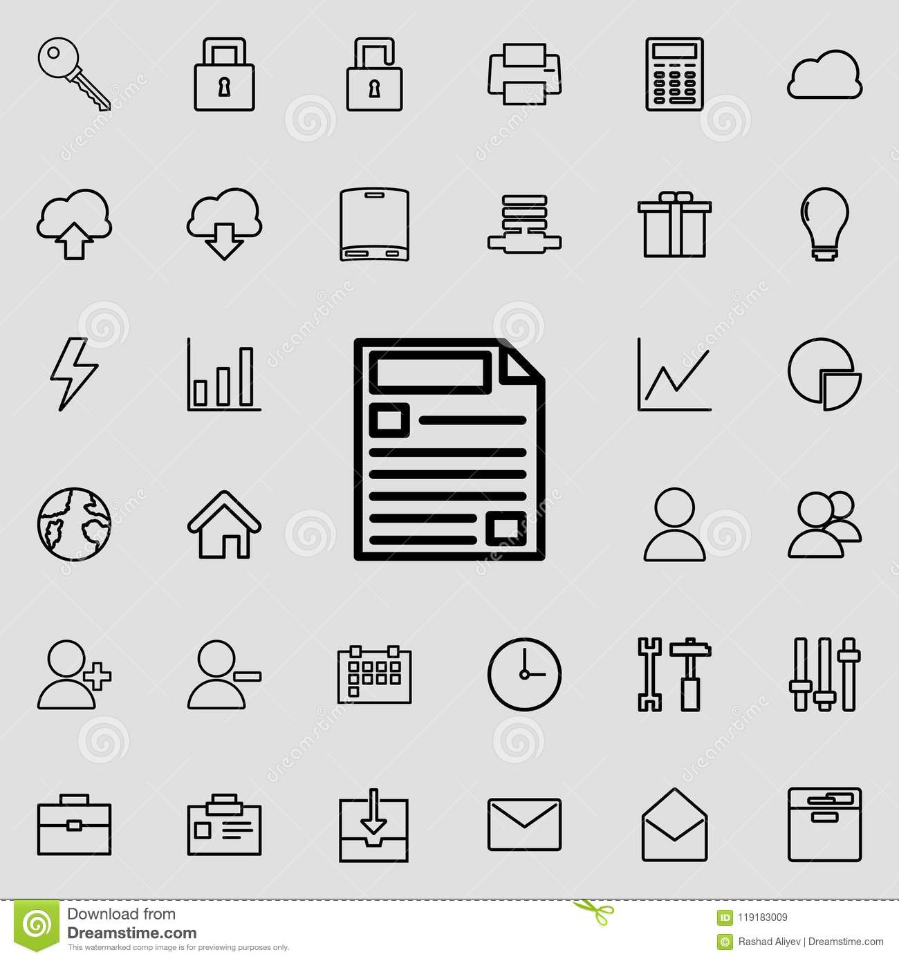 Filled-in Form Icon  Detailed Set Of Minimalistic Icons  Premium