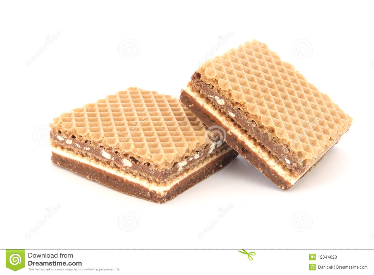 Filled Wafer With Chocolate Royalty Free Stock Photos - Image ...