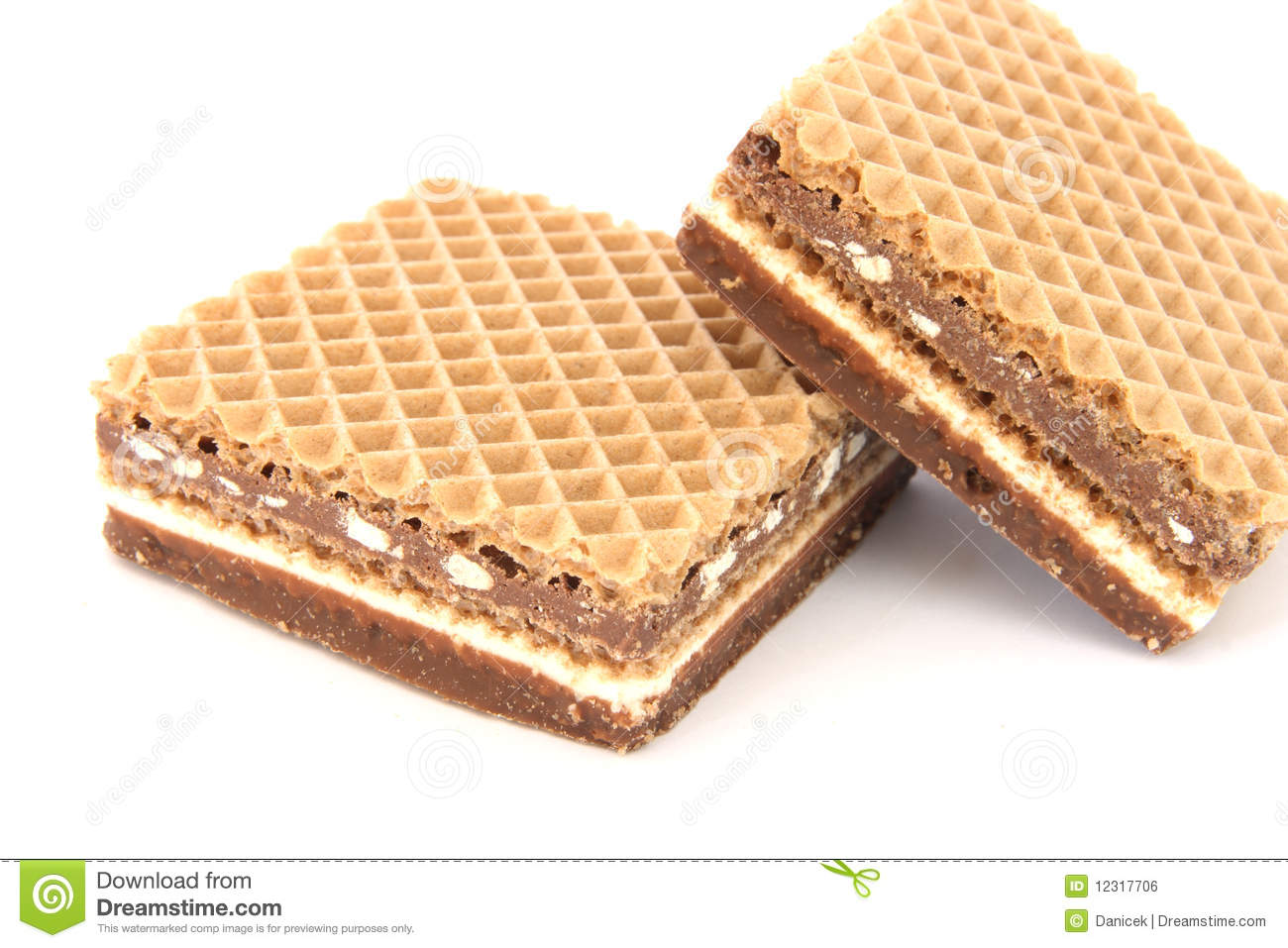 Filled Wafer With Chocolate Royalty Free Stock Image - Image: 12317706