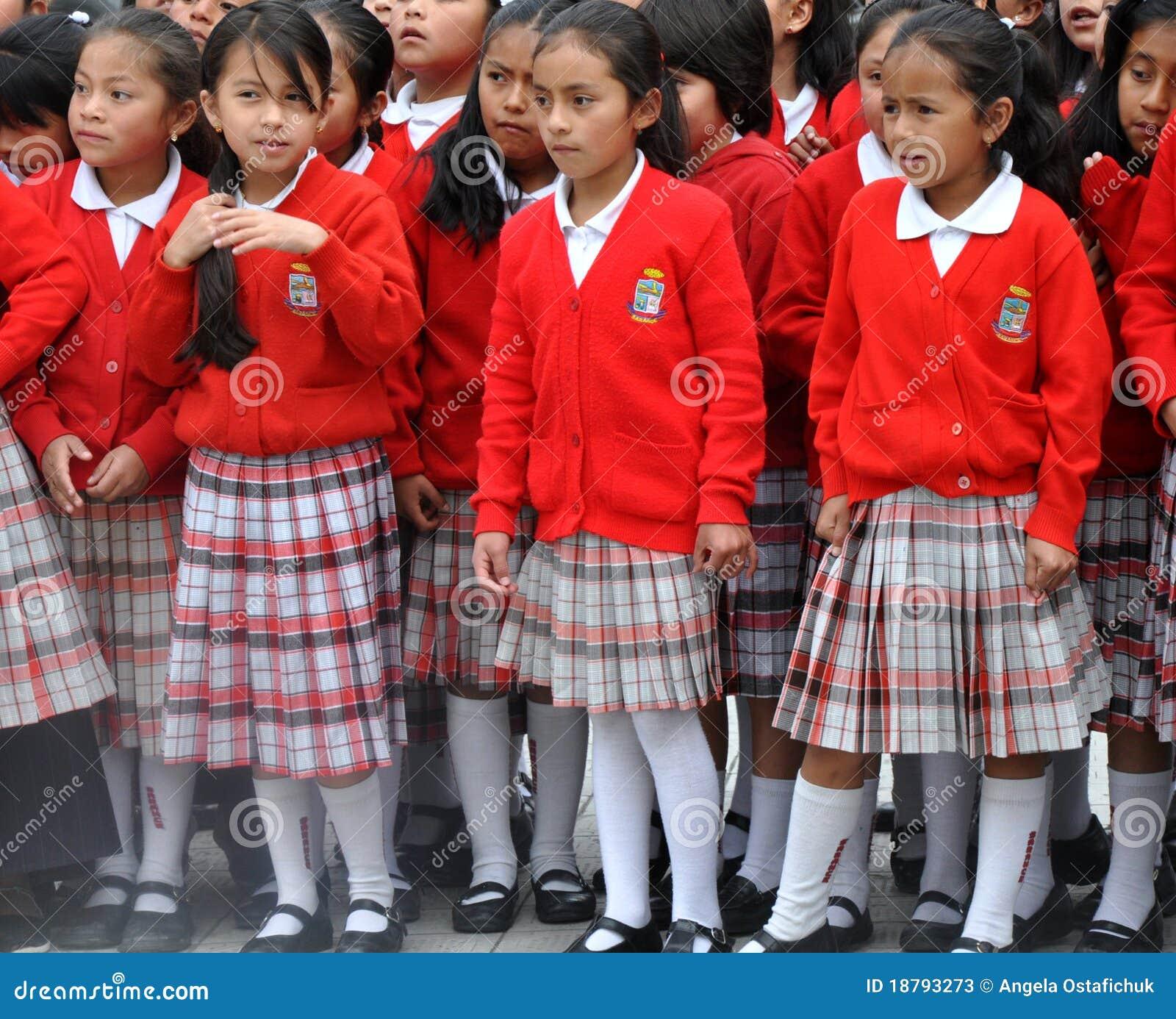 Filles d école d Ecuadorian