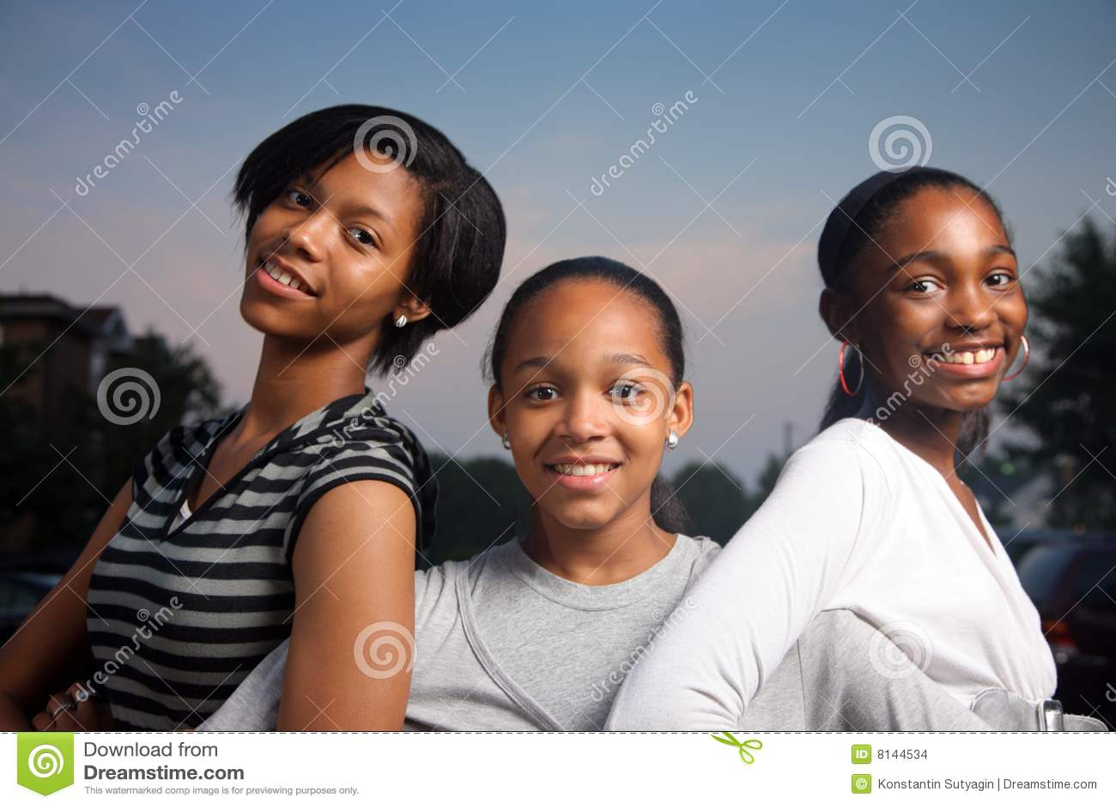 Filles d afro-américain