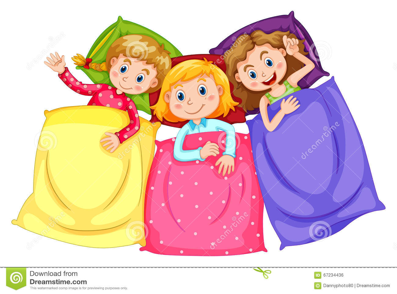 filles dans des pyjamas  u00e0 la soir u00e9e pyjamas illustration blue sleeping bag clipart sleeping bag and pillow clipart