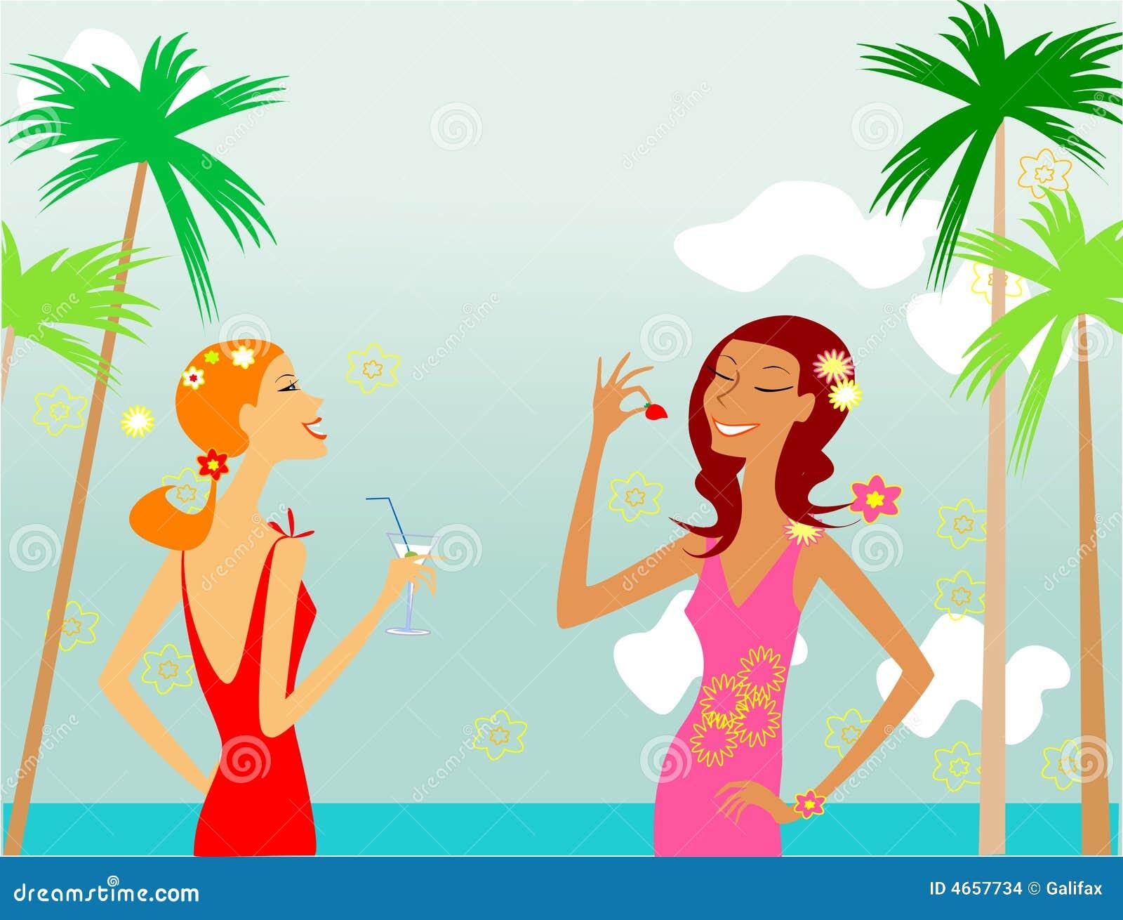 filles sur la plage images stock image 4657734. Black Bedroom Furniture Sets. Home Design Ideas