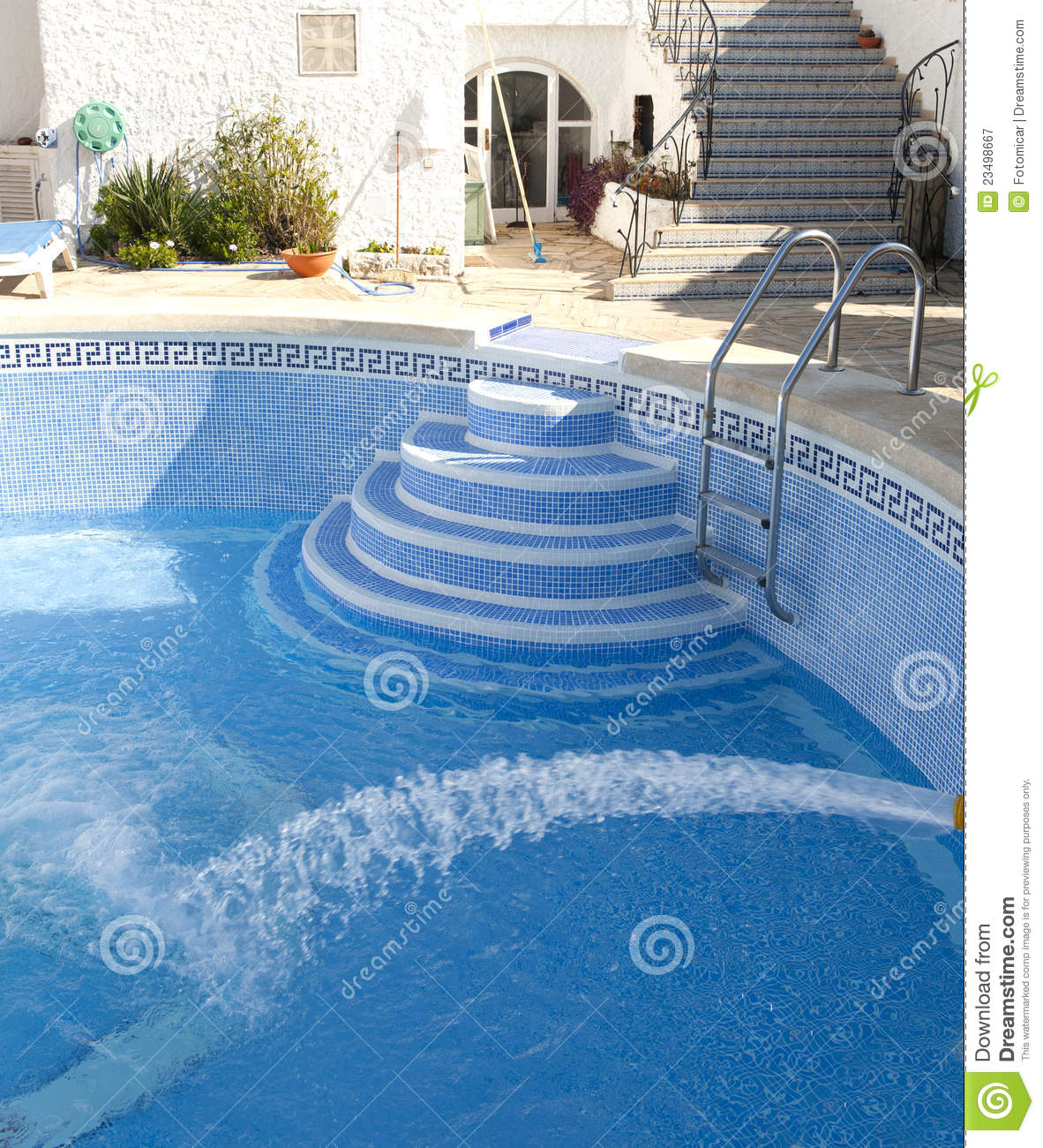 Filling A Swimming Pool With Water Royalty Free Stock Photography Image 23498667
