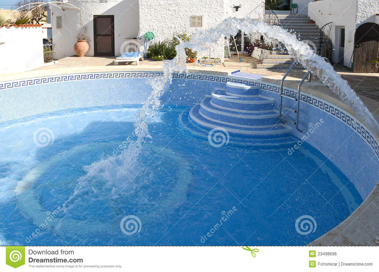 Filling A Swimming Pool With Water Royalty Free Stock Image Image 23498696