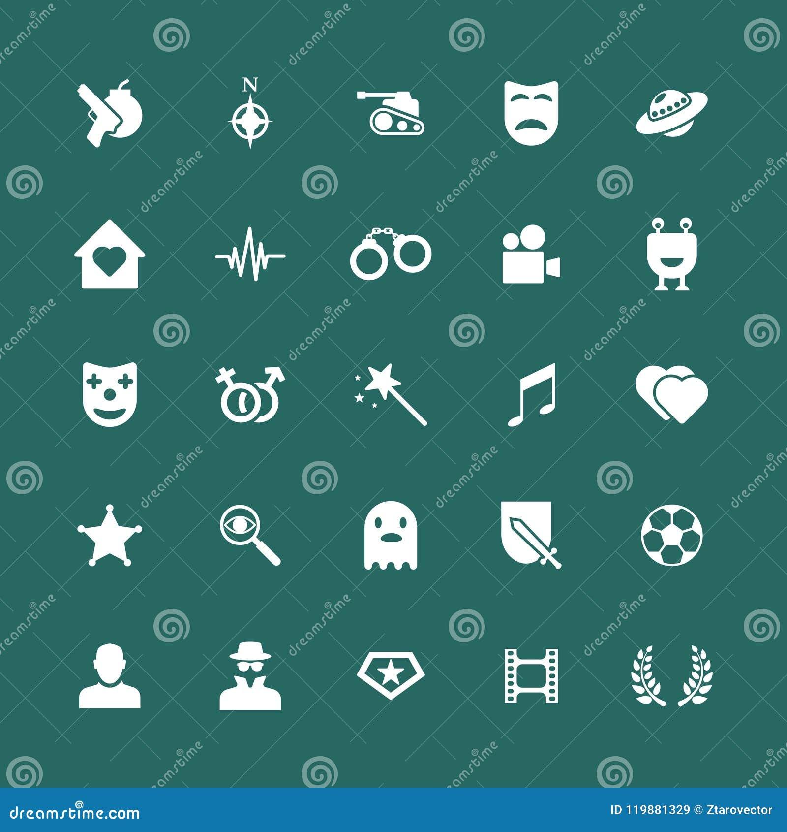 Filmów gatunków ikony ustawiać