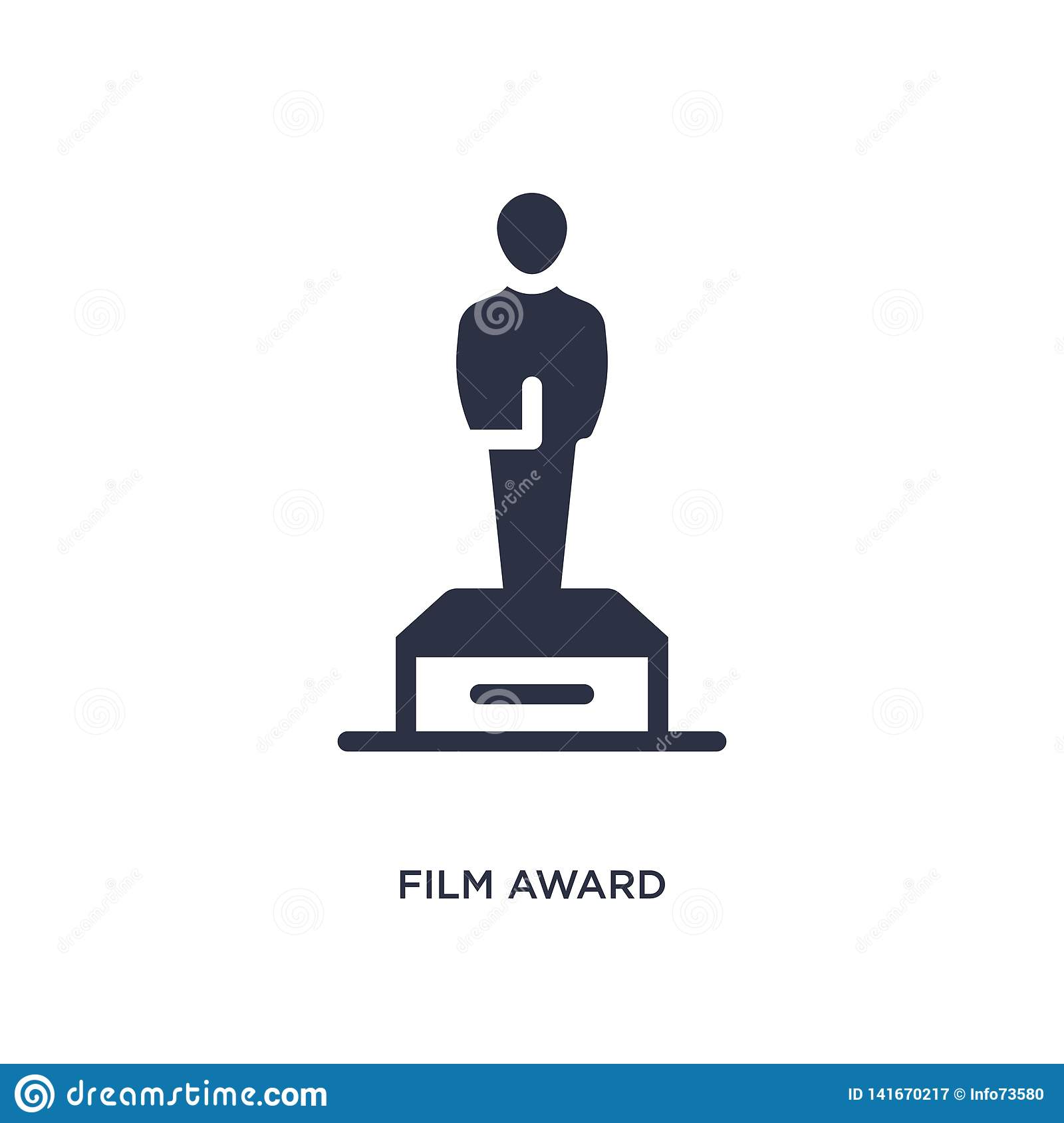 film award icon on white background. Simple element illustration from cinema concept